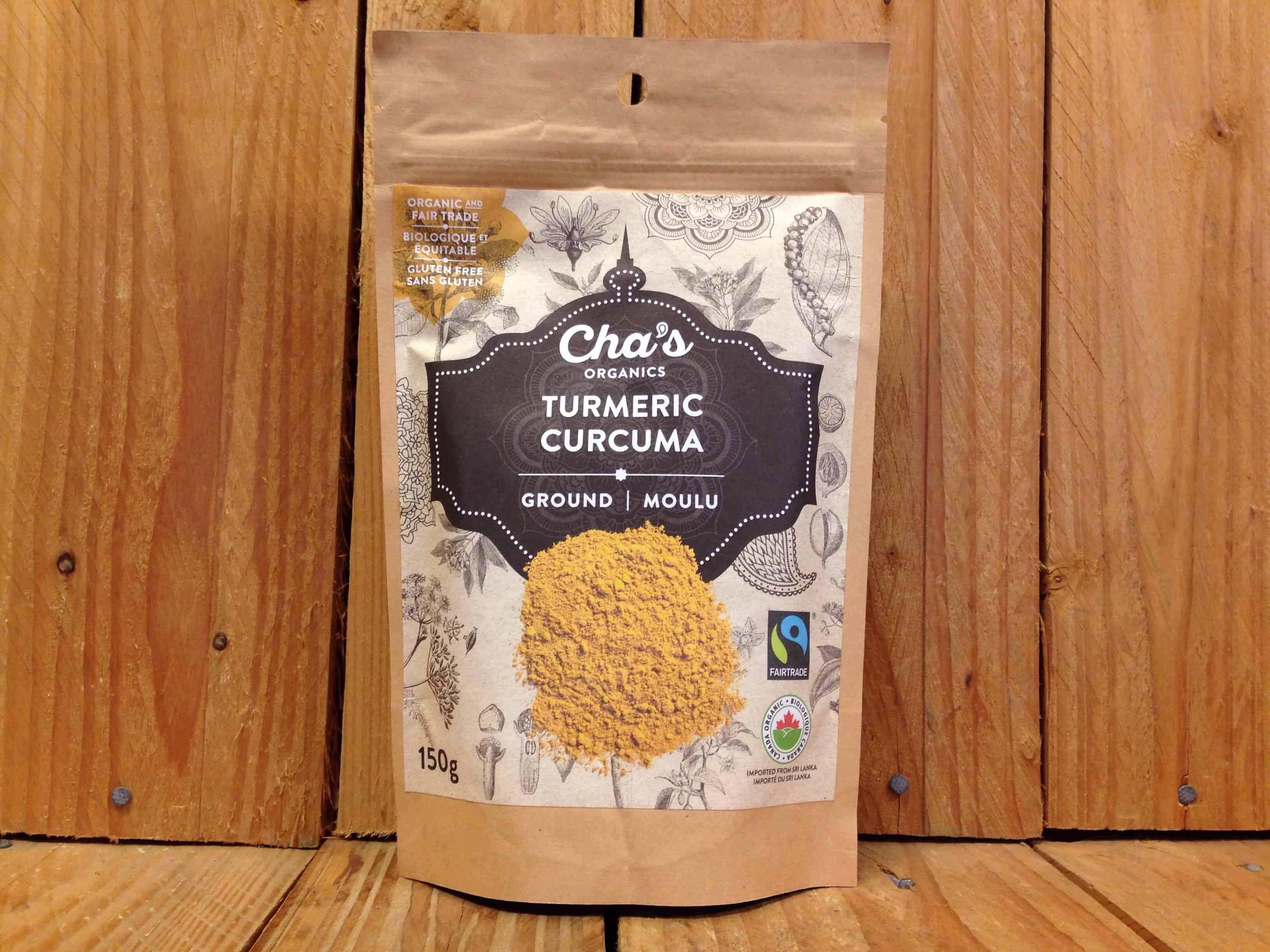 Cha's – Organic Turmeric – Ground (150g Bag)