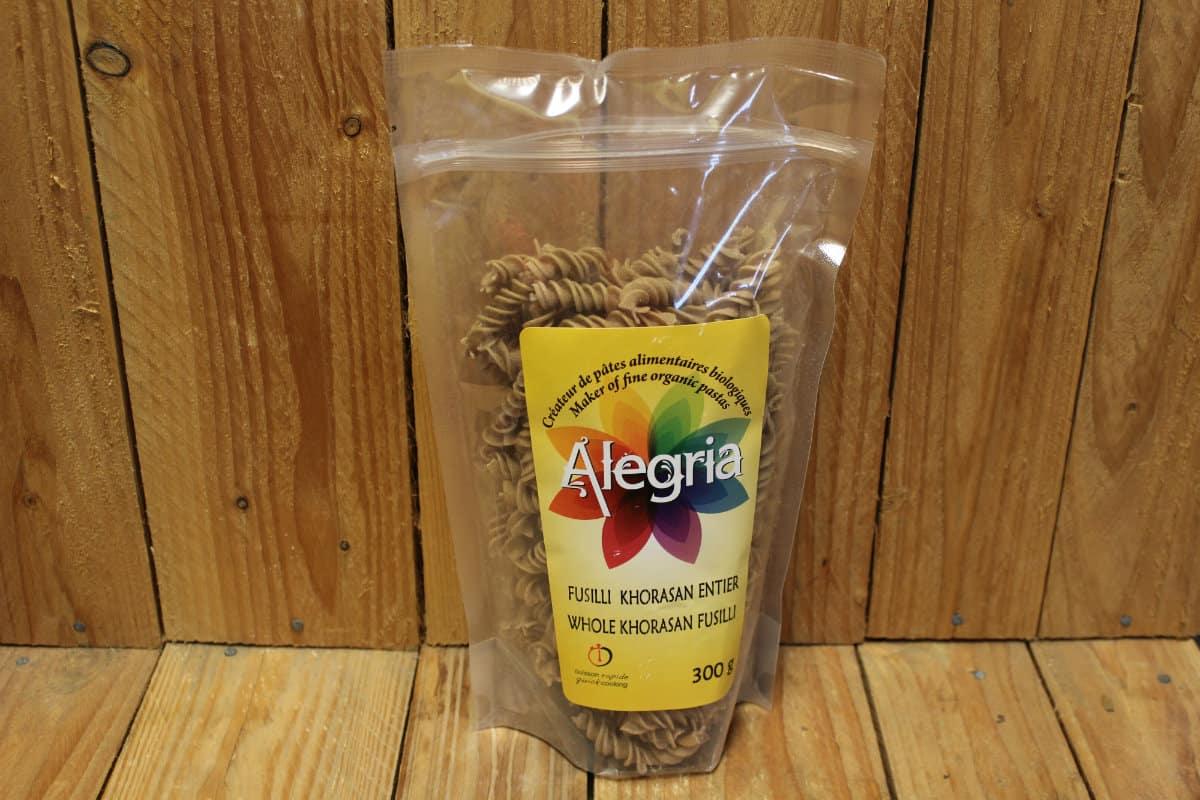 Alegria – Organic Pasta – Fusilli – Whole Khorasan/Kamut (300g)