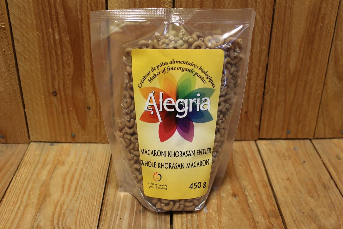 Alegria – Organic Pasta – Macaroni – Whole Khorasan/Kamut (450g)