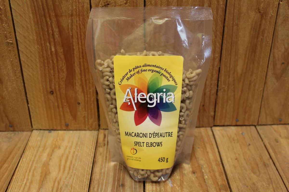 Alegria – Organic Pasta – Macaroni – Spelt (450g)