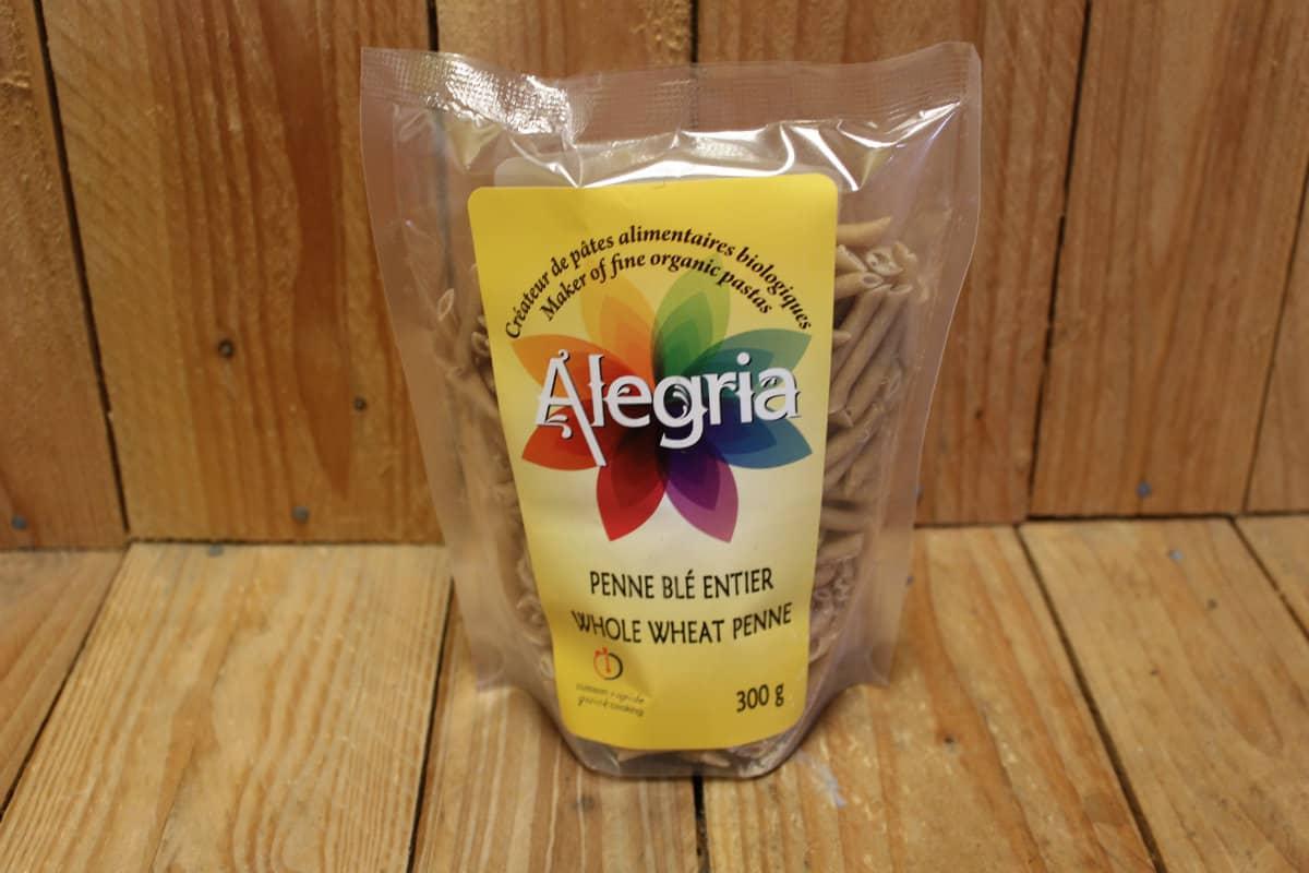 Alegria  – Organic Pasta – Penne – Whole Wheat (300g)
