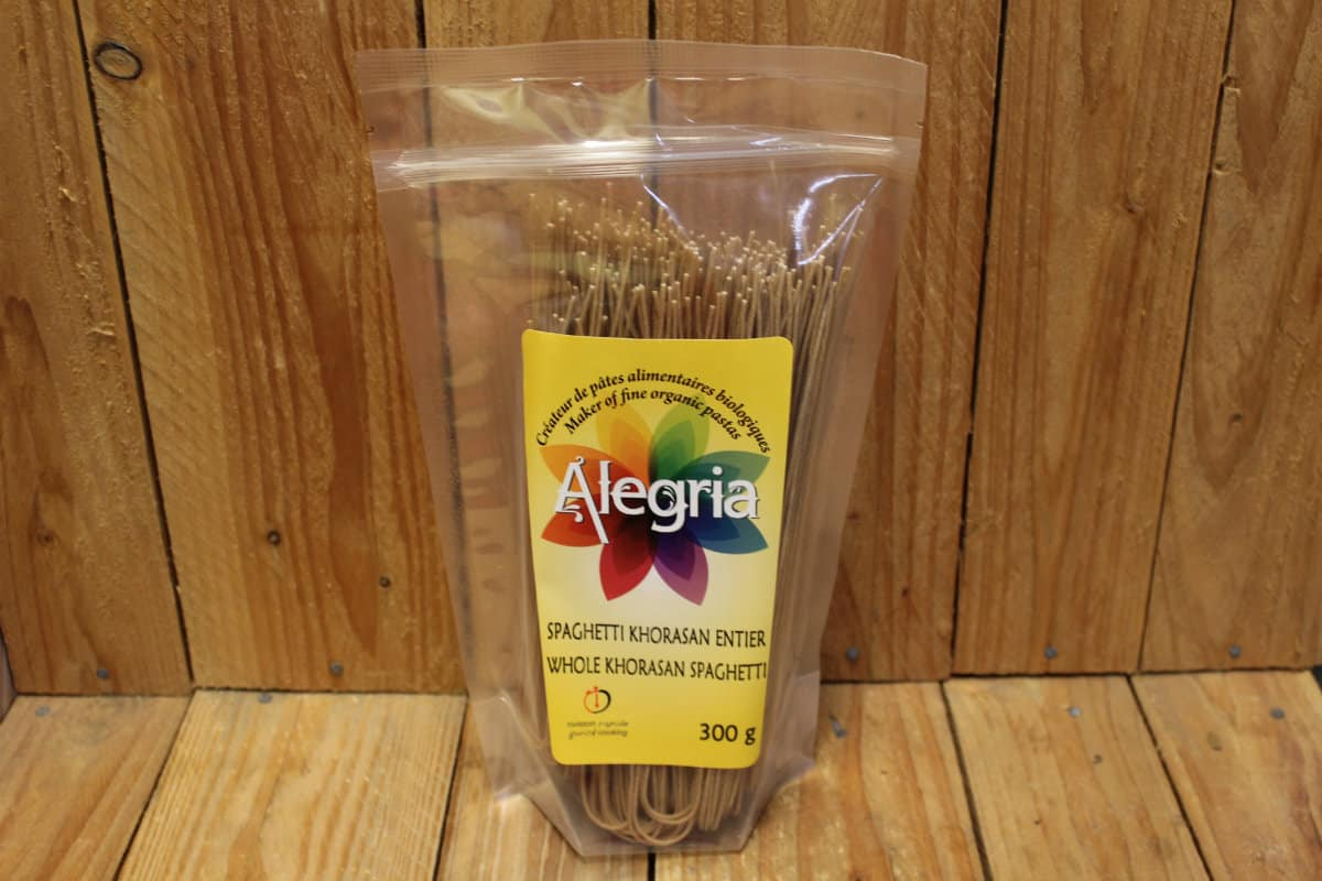 Alegria – Organic Pasta – Spaghetti – Whole Khorasan/Kamut (300g)