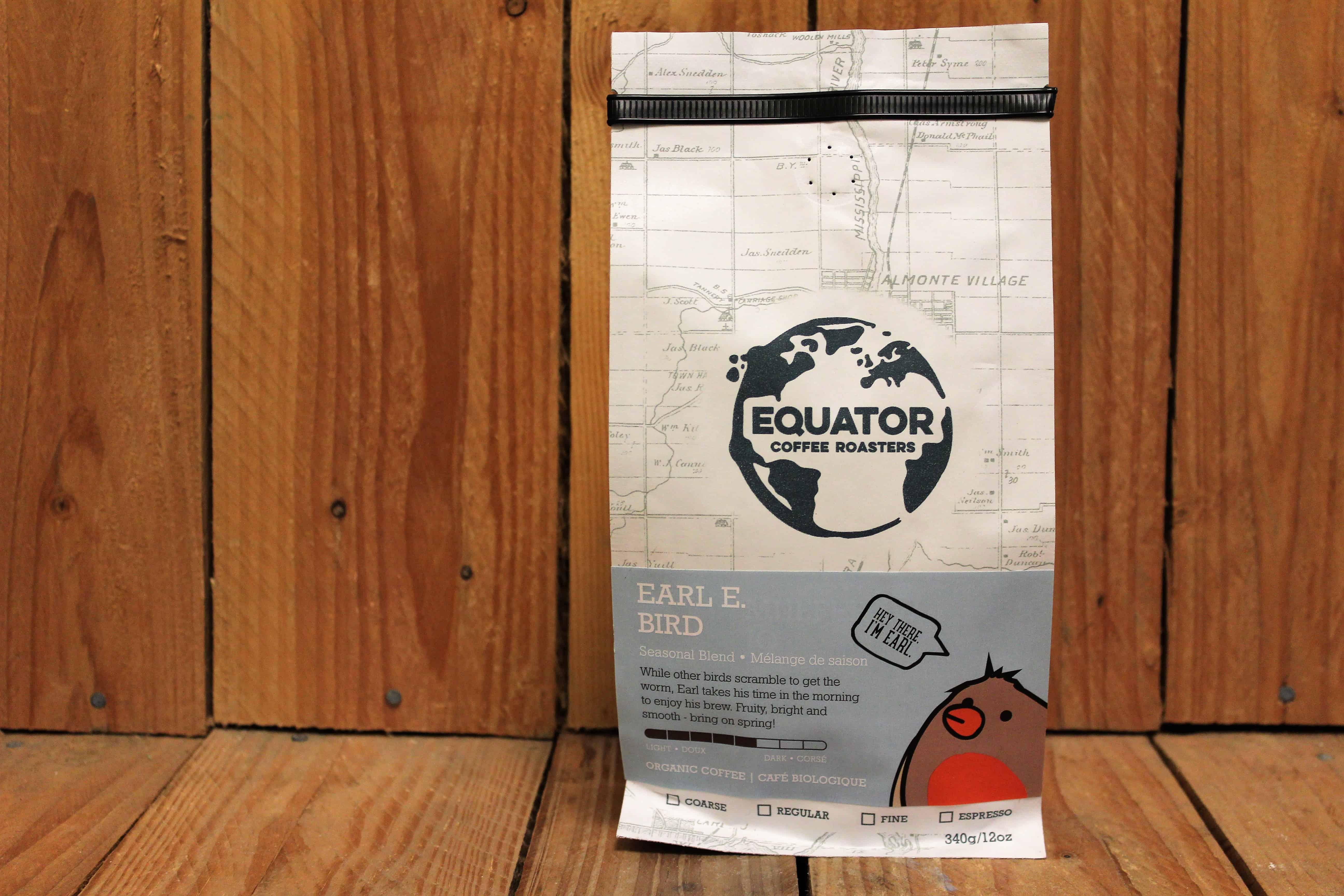 Equator – Organic Coffee – Earl E Bird Light Roast (340g Bag)