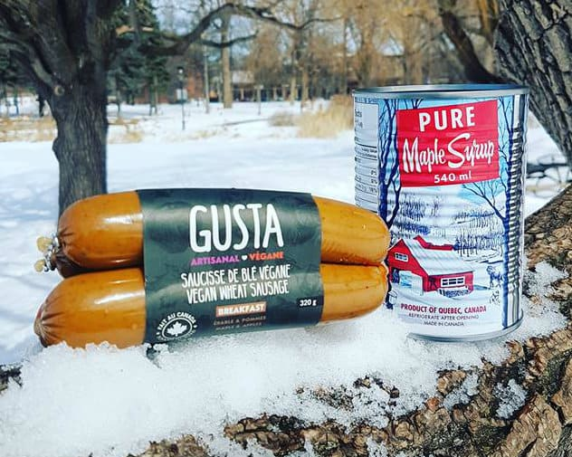 Gusta Vegan Wheat Sausage – NON-CERTIFIED – Breakfast Maple (350g)
