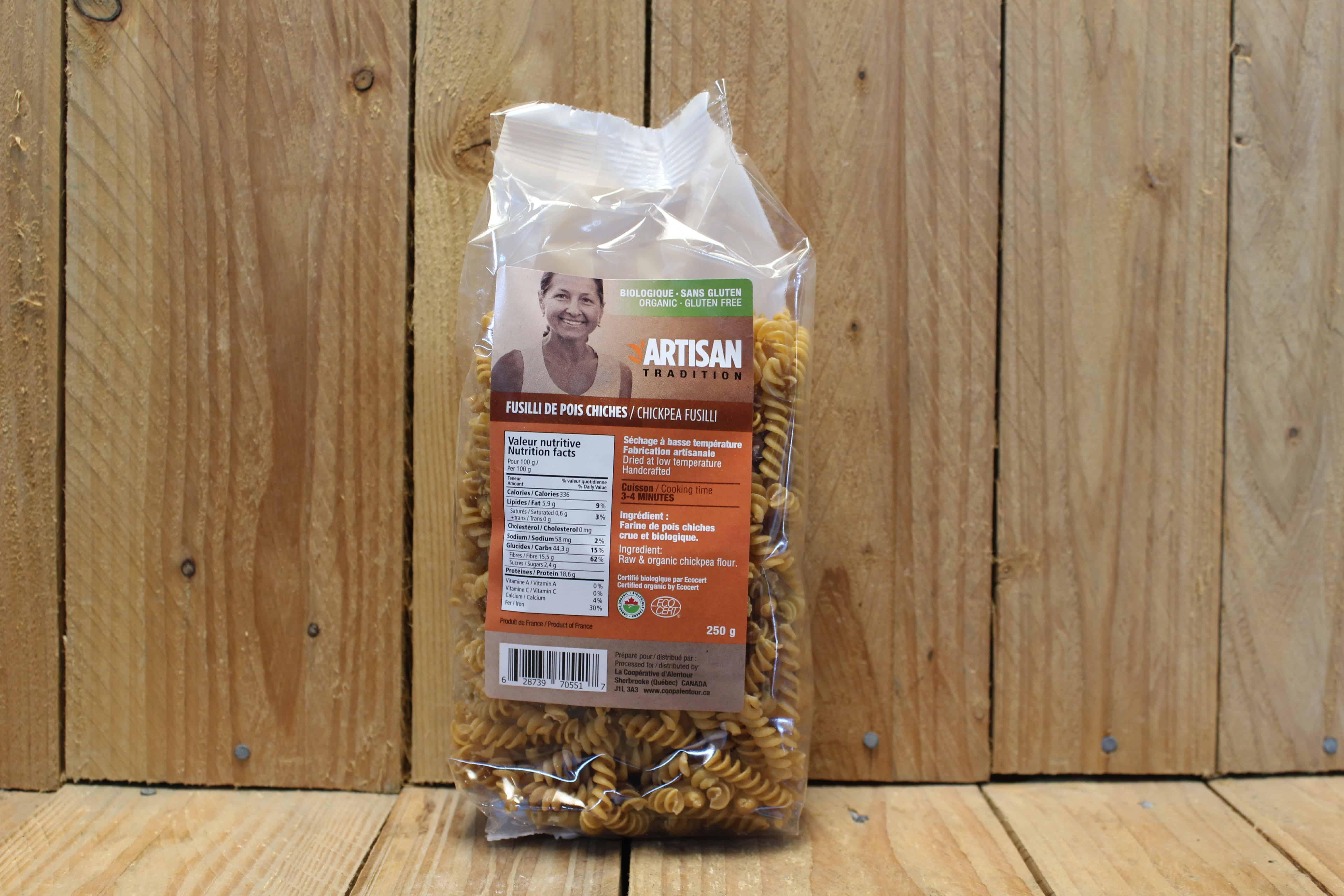 Artisan Tradition – Organic Pasta – Chickpea Fusilli (250g)
