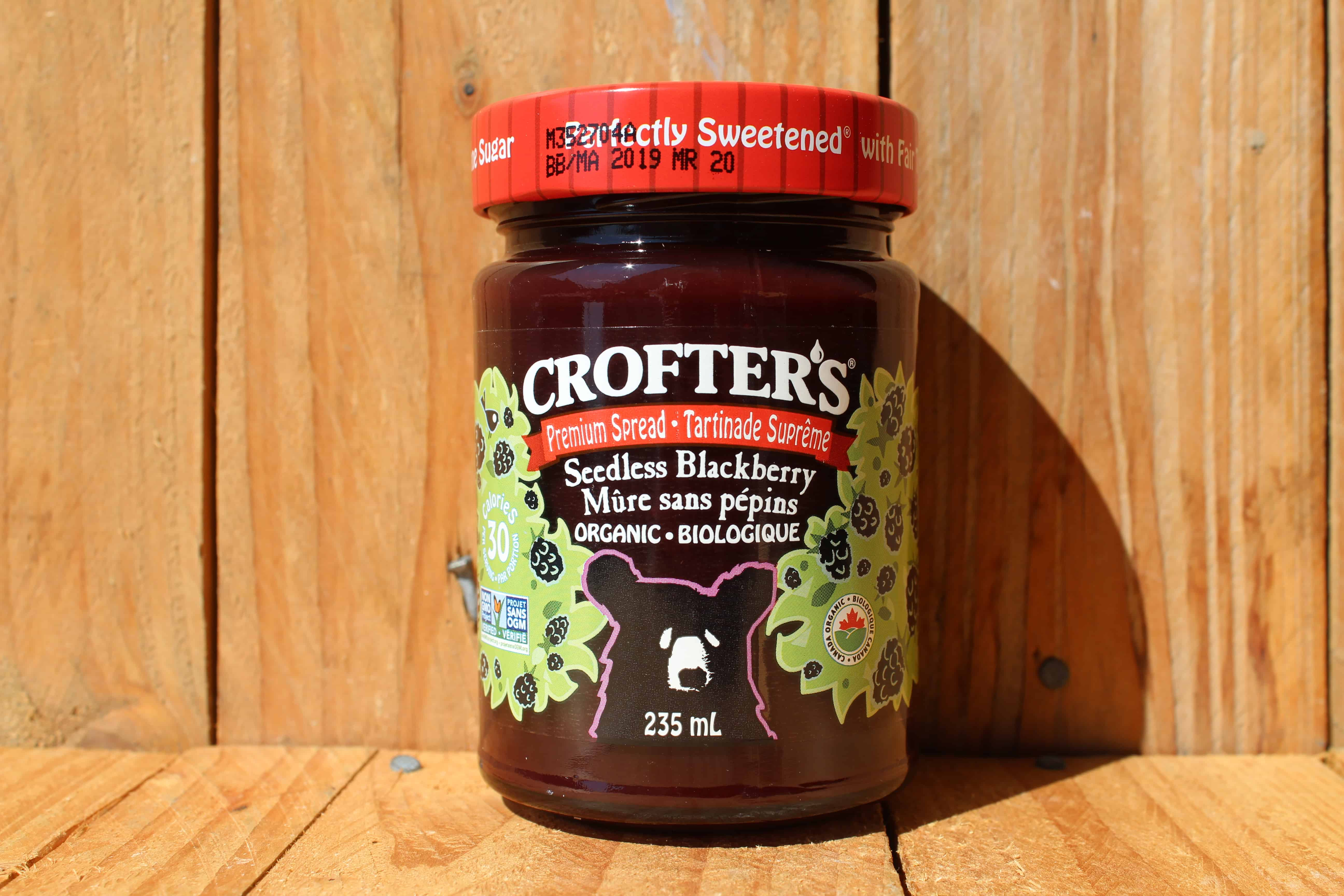 Crofters – Organic Premium Spread – Blackberry (235ml Jar)
