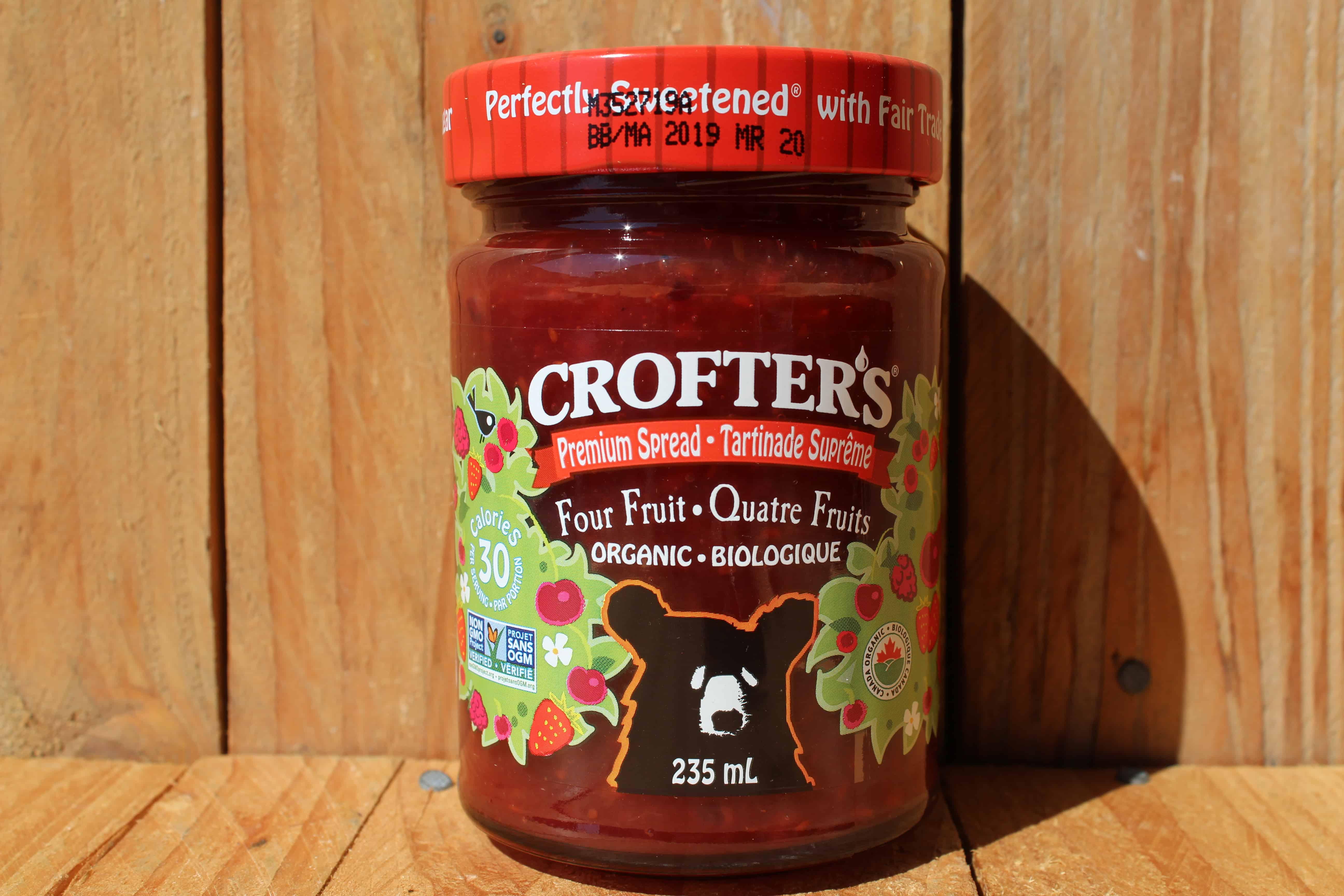 Crofters – Organic Premium Spread – Four Fruits (235ml Jar)