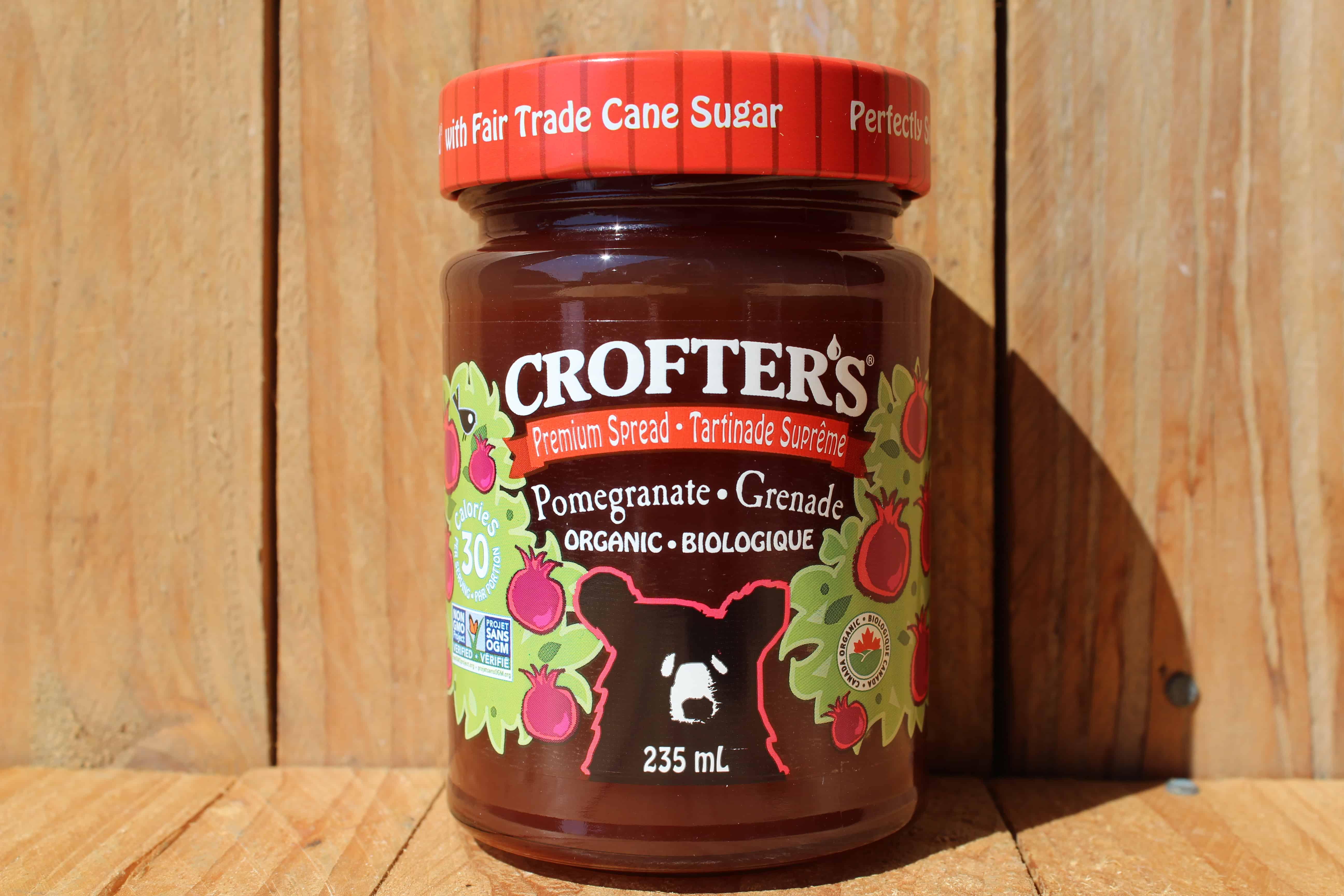 Crofters – Organic Premium Spread – Pomegranate (235ml Jar)