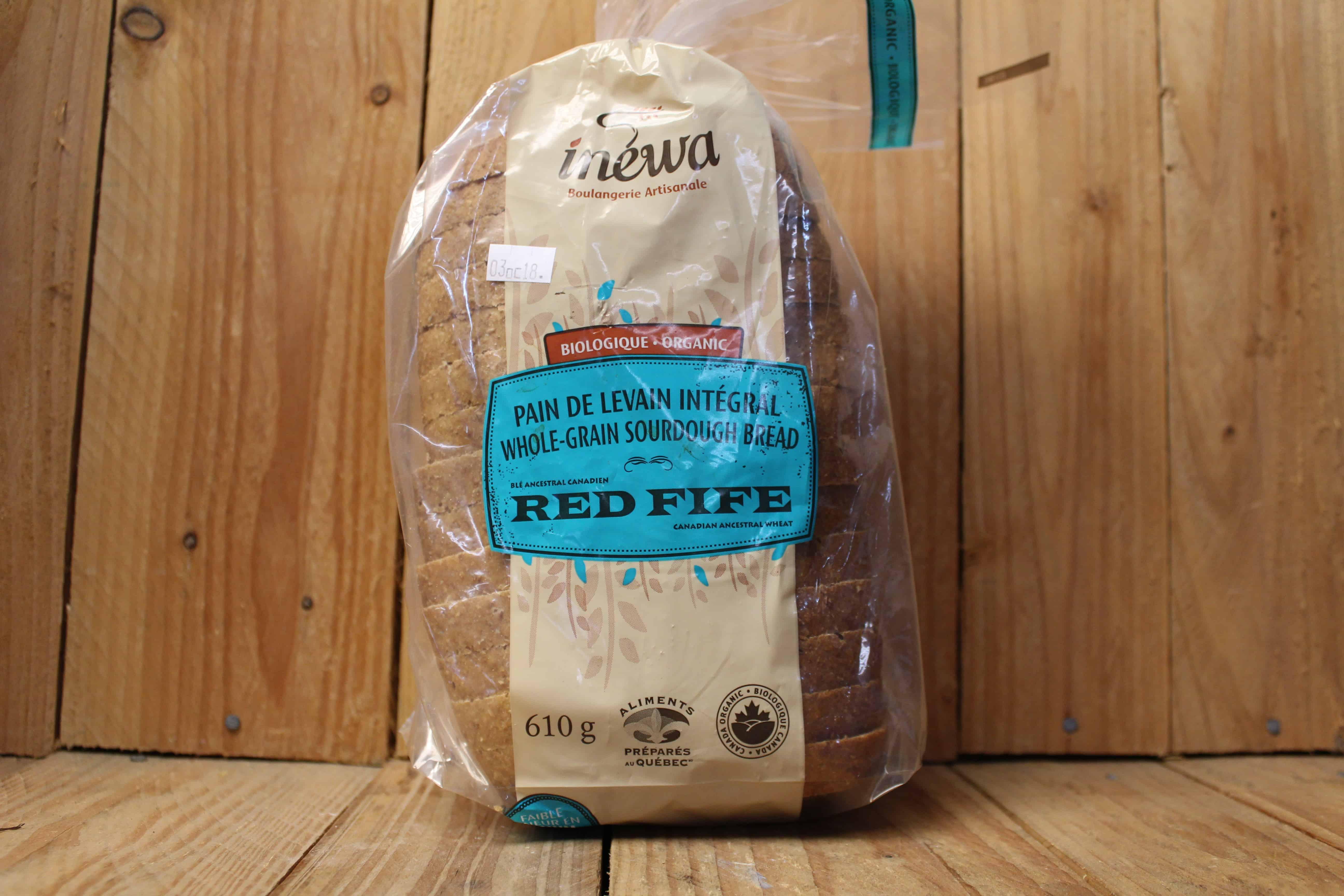 Inewa Bakery – Red Fife Whole Grain Sourdough (Each)