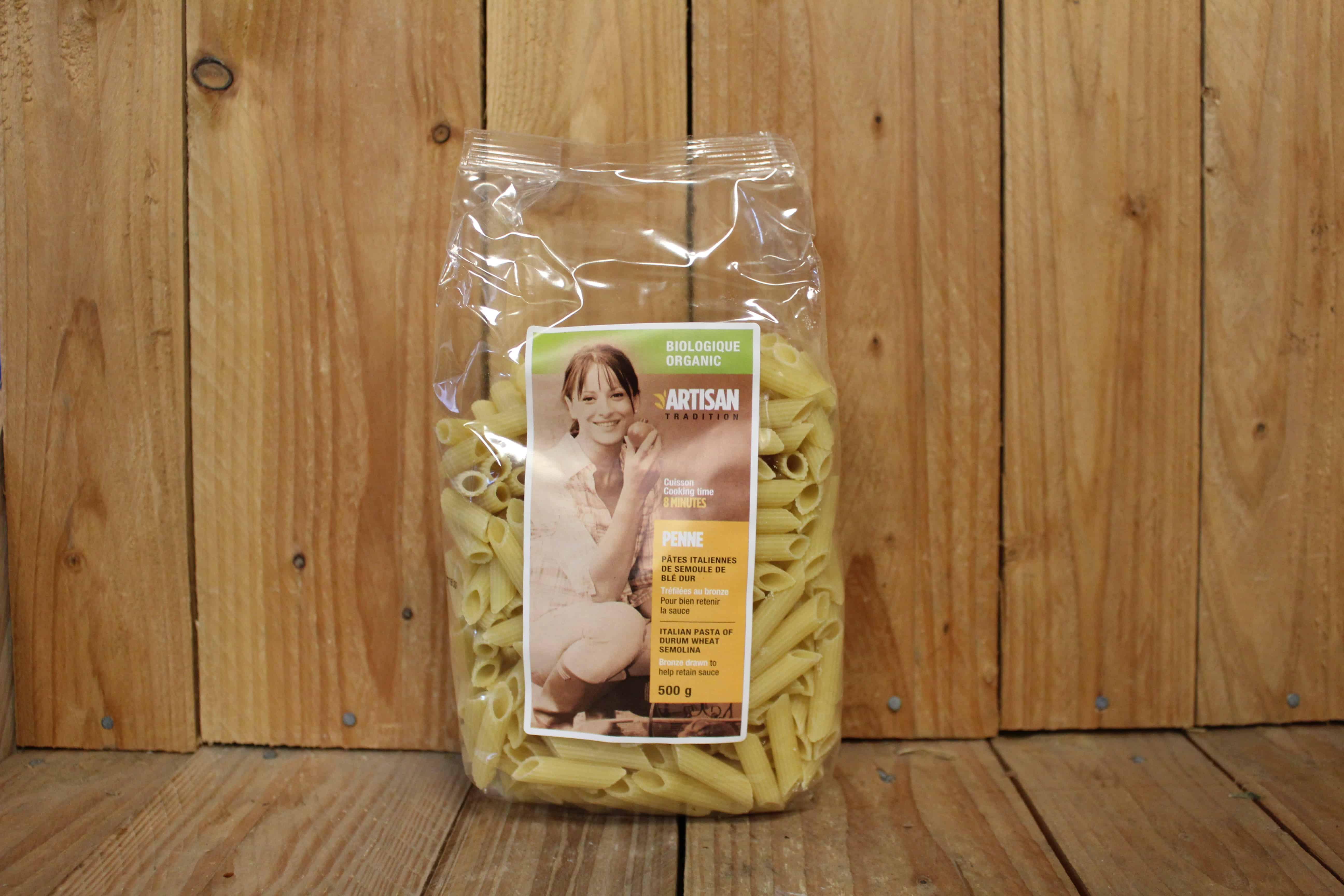 Artisan Tradition – Organic Pasta – Durum Wheat Penne (500g)