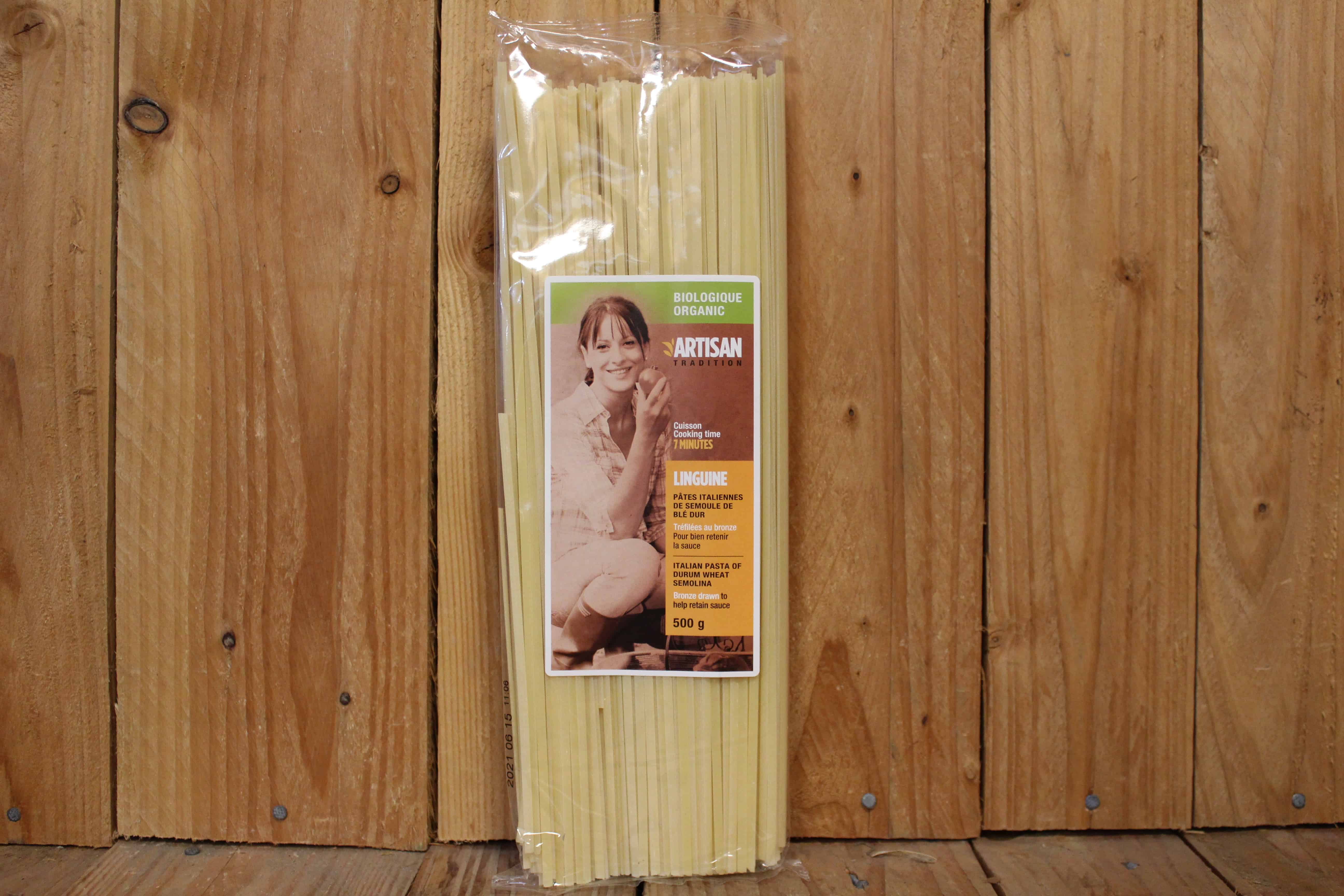 Artisan Tradition – Organic Pasta – Durum Wheat Linguine (500g)