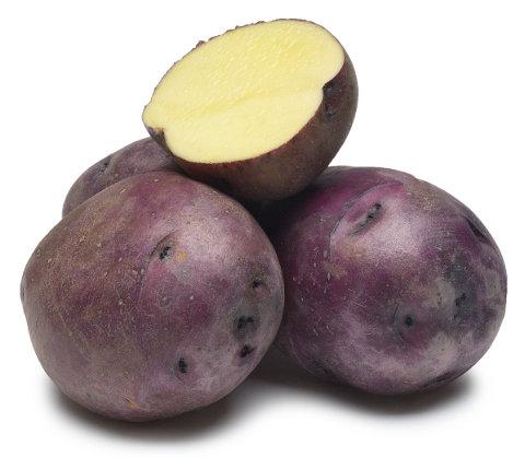 Potatoes – Purple Skin, Yellow Flesh LOCAL Ferme La Rosee (2LB Bag)