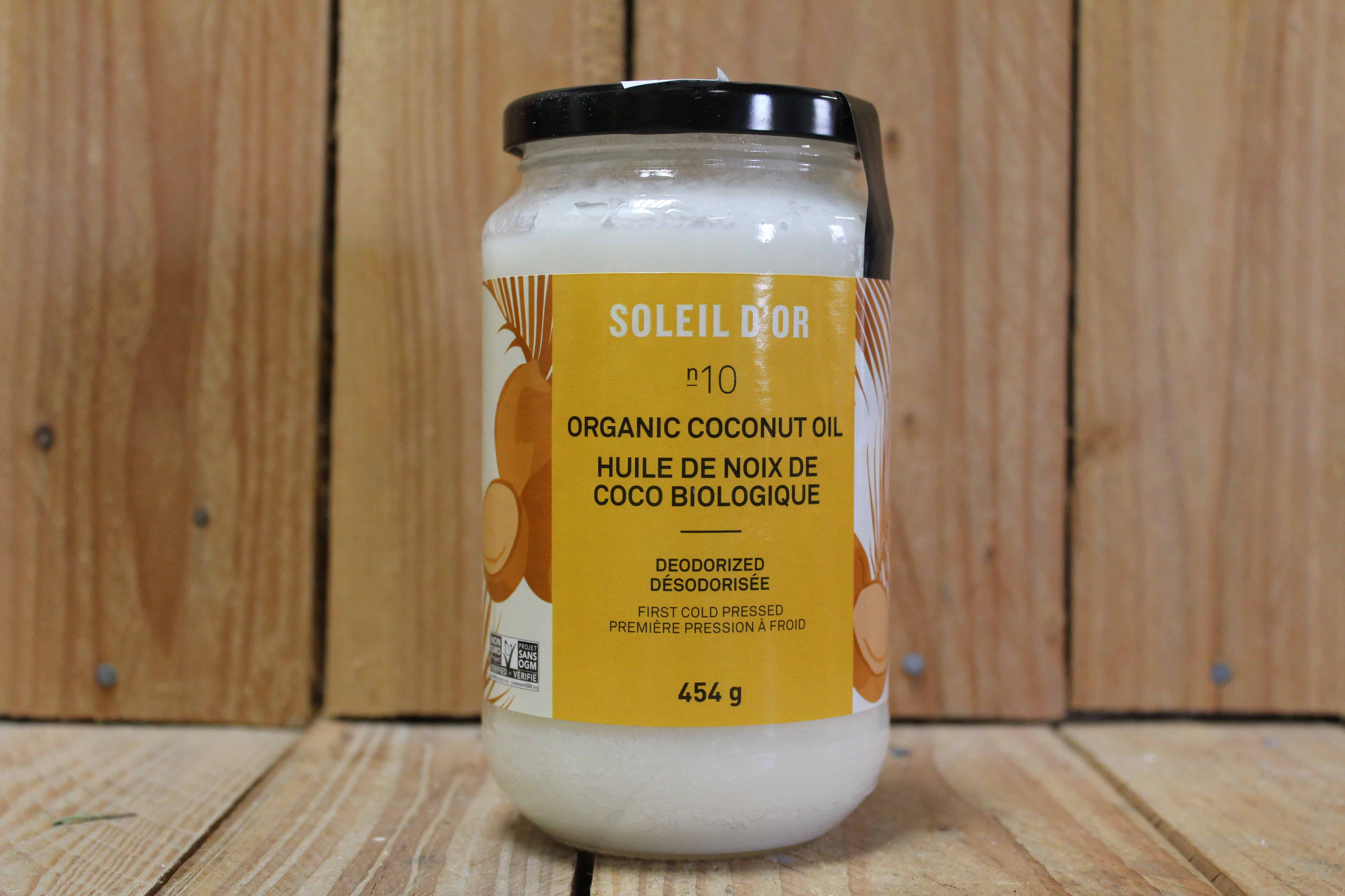 Soleil D'Or – Coconut Oil – No. 10 Deodorized (454g Jar)