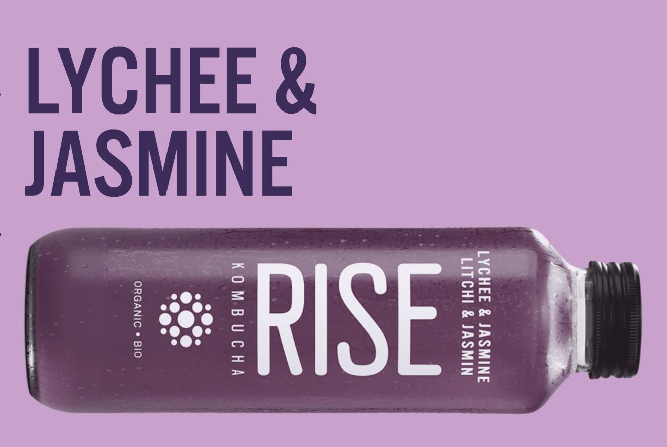 Rise – Kombucha – Lychee Jasmine (1L Bottle)