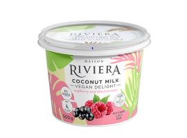 Riviera – Vegan Delight – Raspberry & Blackcurrant Coconut Milk Yogurt (500g)