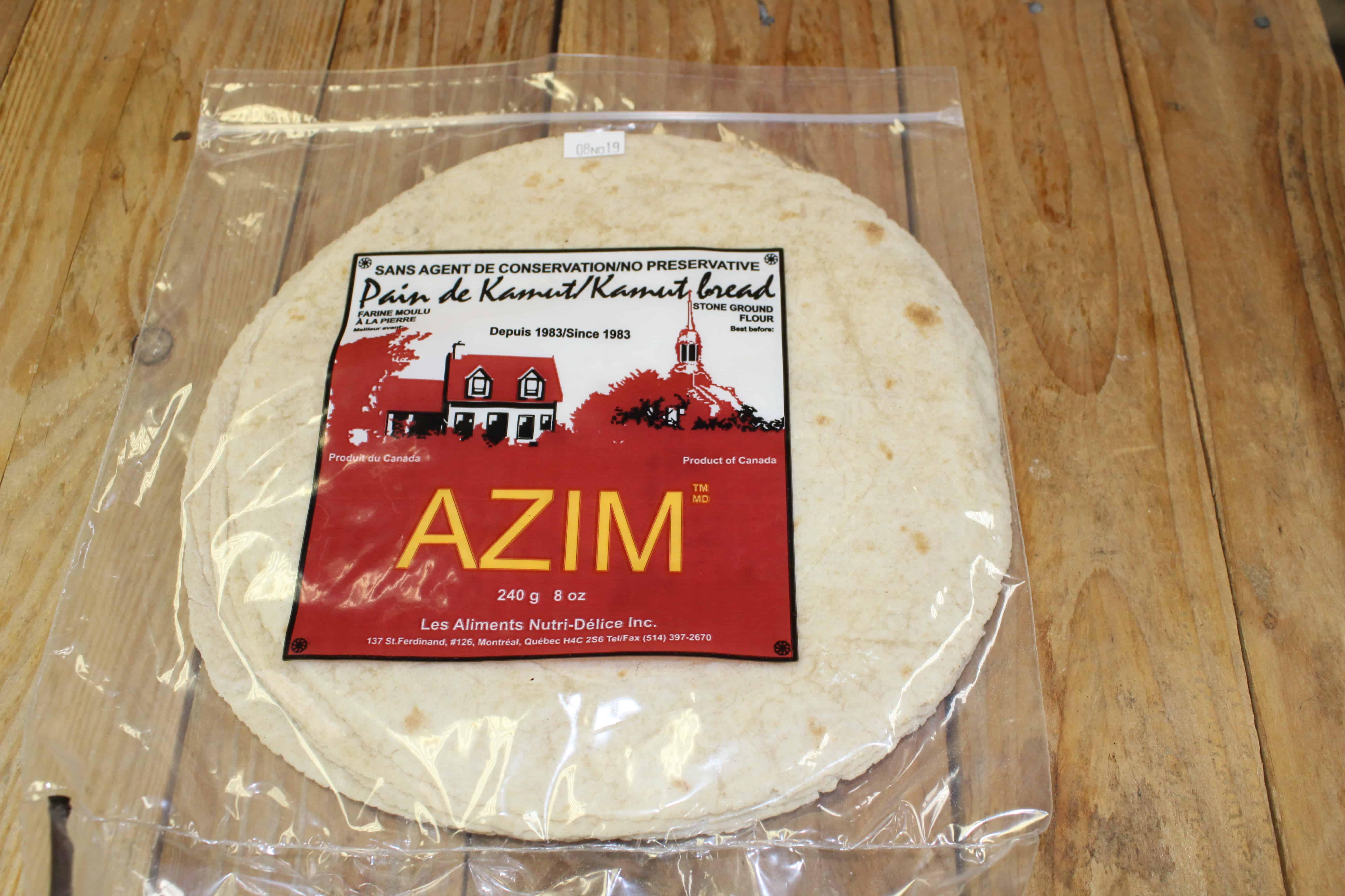 Azim – Flat Bread Kamut *Not Organic* (Pkg 5/240g)
