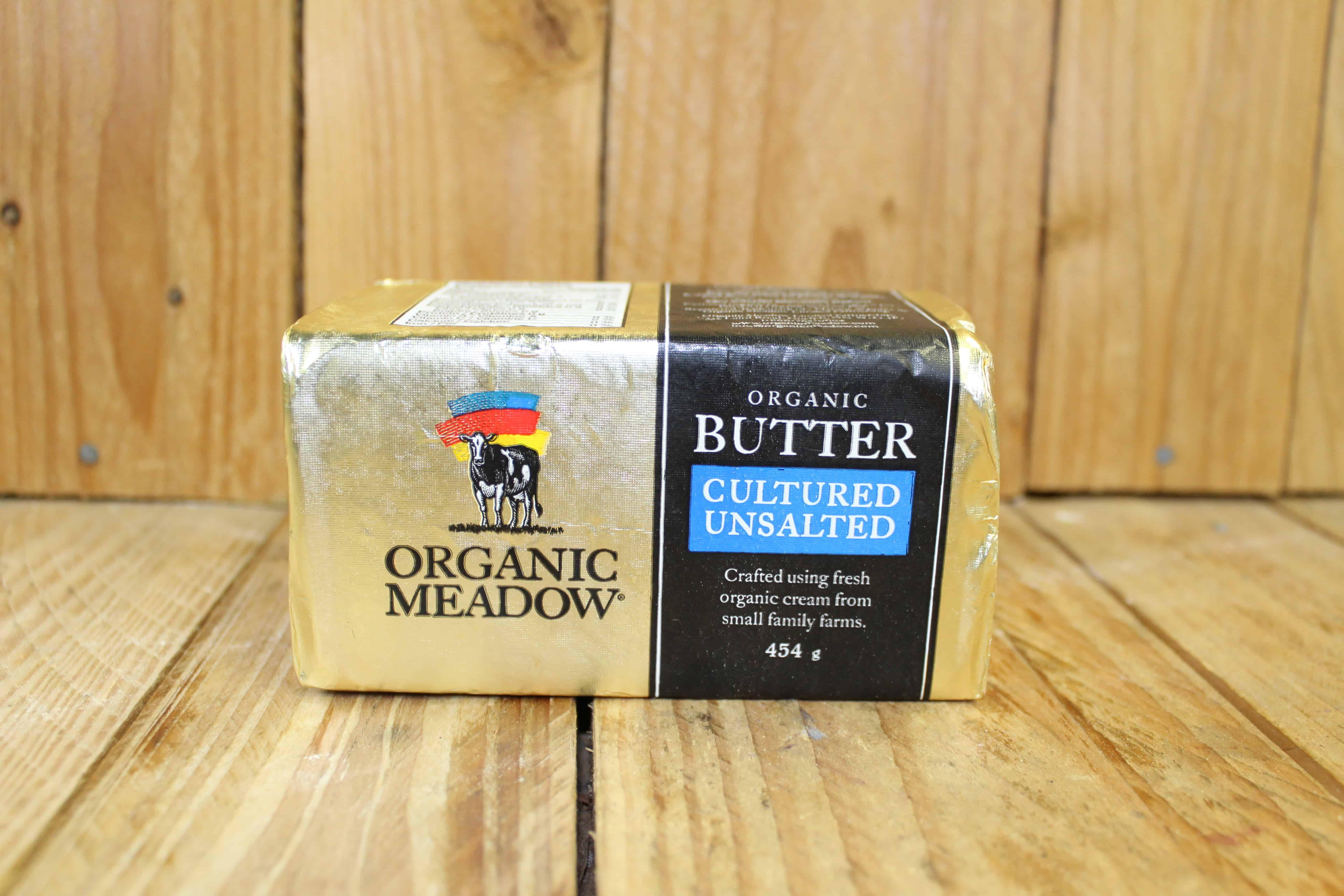 Organic Meadow – Butter – Unsalted (454g)