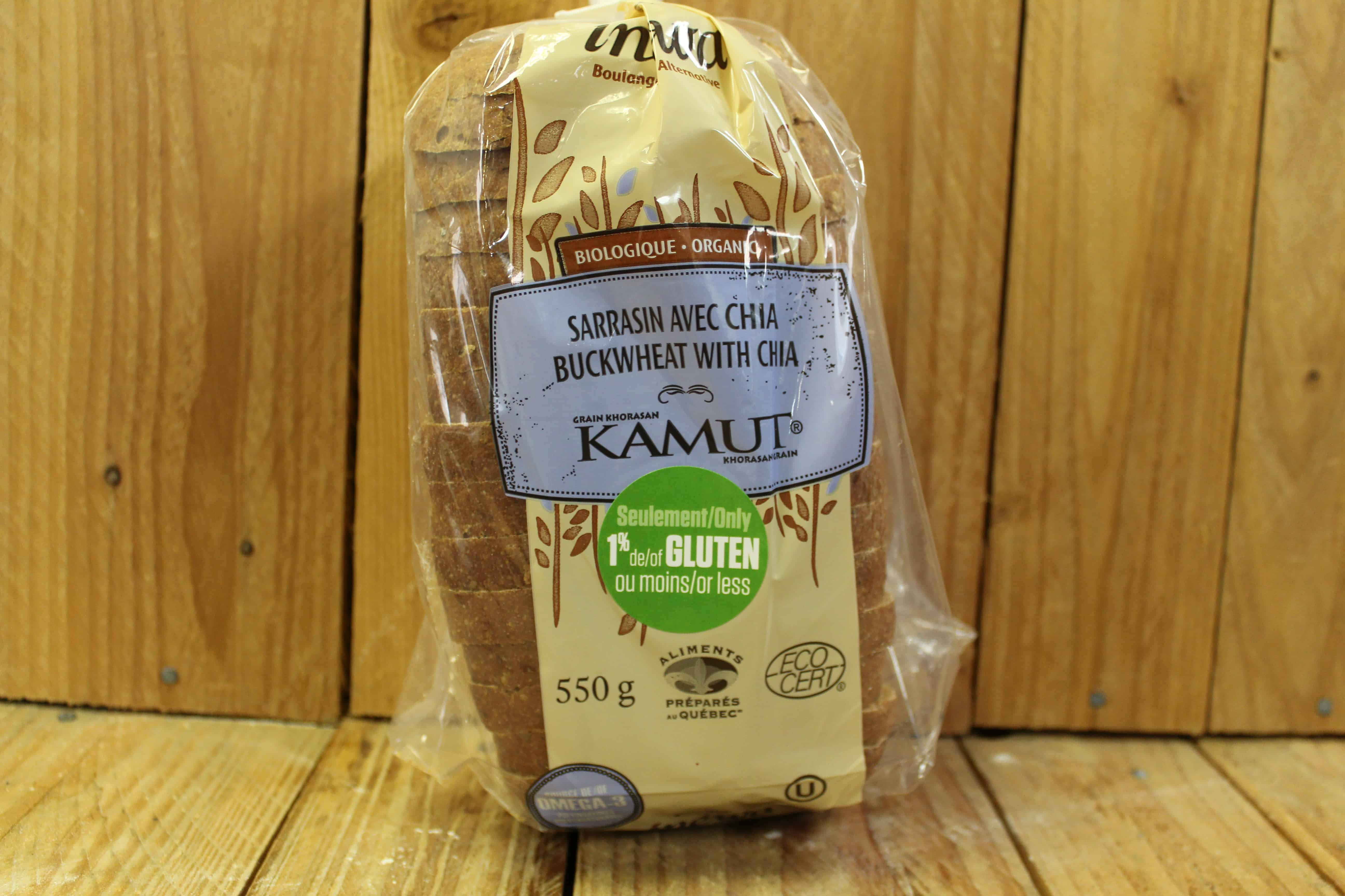 Inewa Bakery – Buckwheat and Chia Bread (low gluten) (Each)