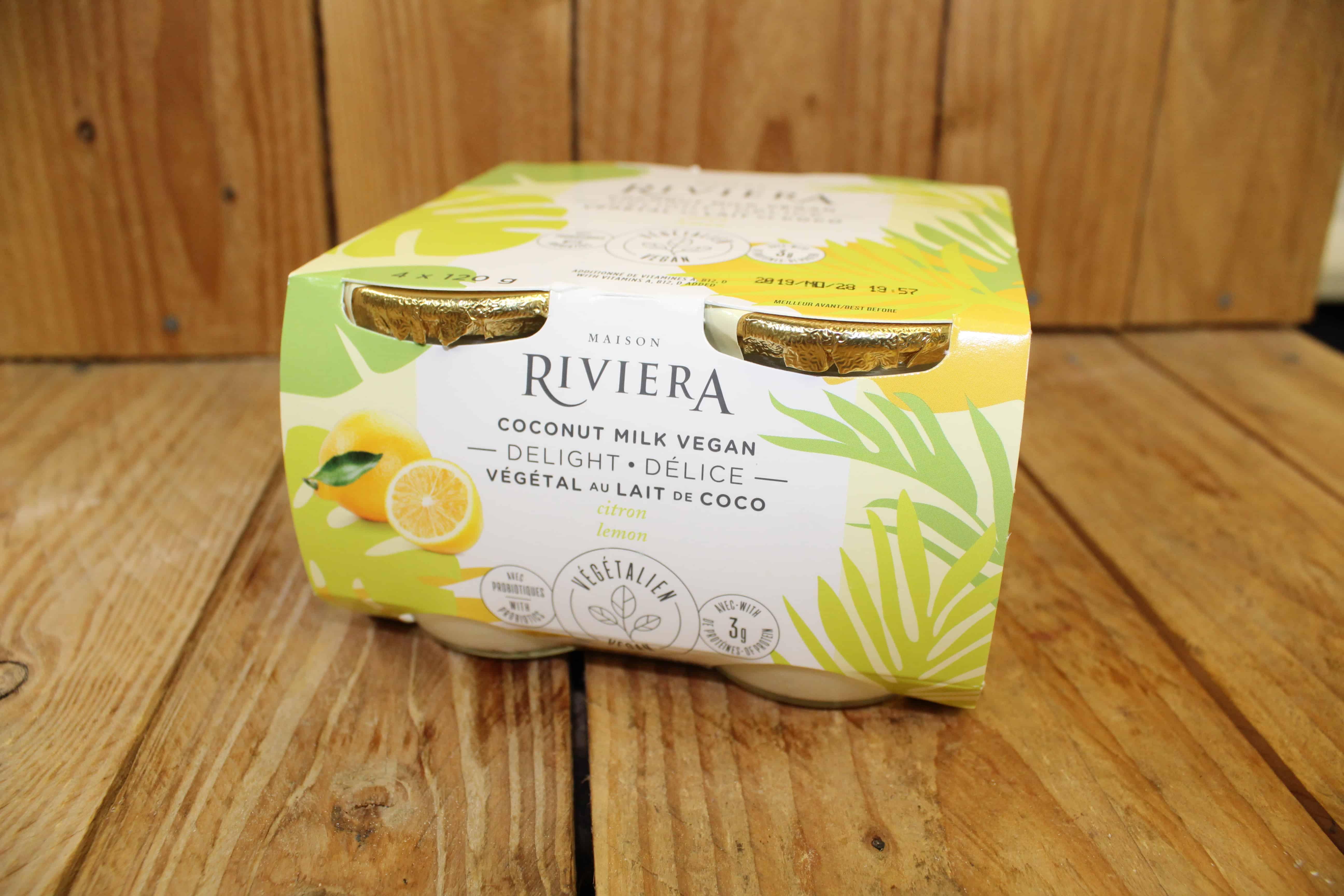 Riviera – Vegan Delight – Lemon Coconut Milk Yogurt (4x120g)