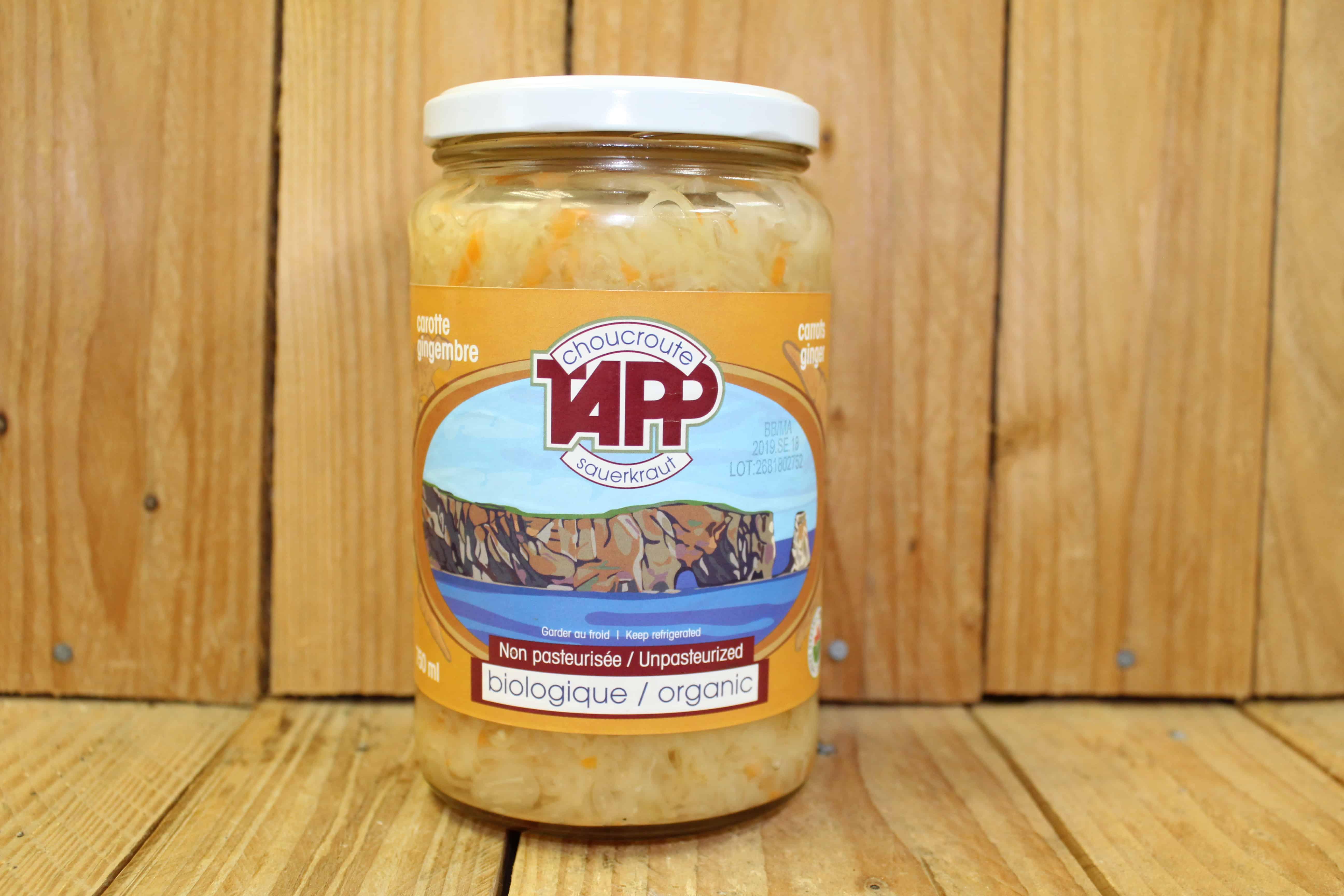 Tapp – Sauerkraut – Carrot and Ginger (750ml Jar)