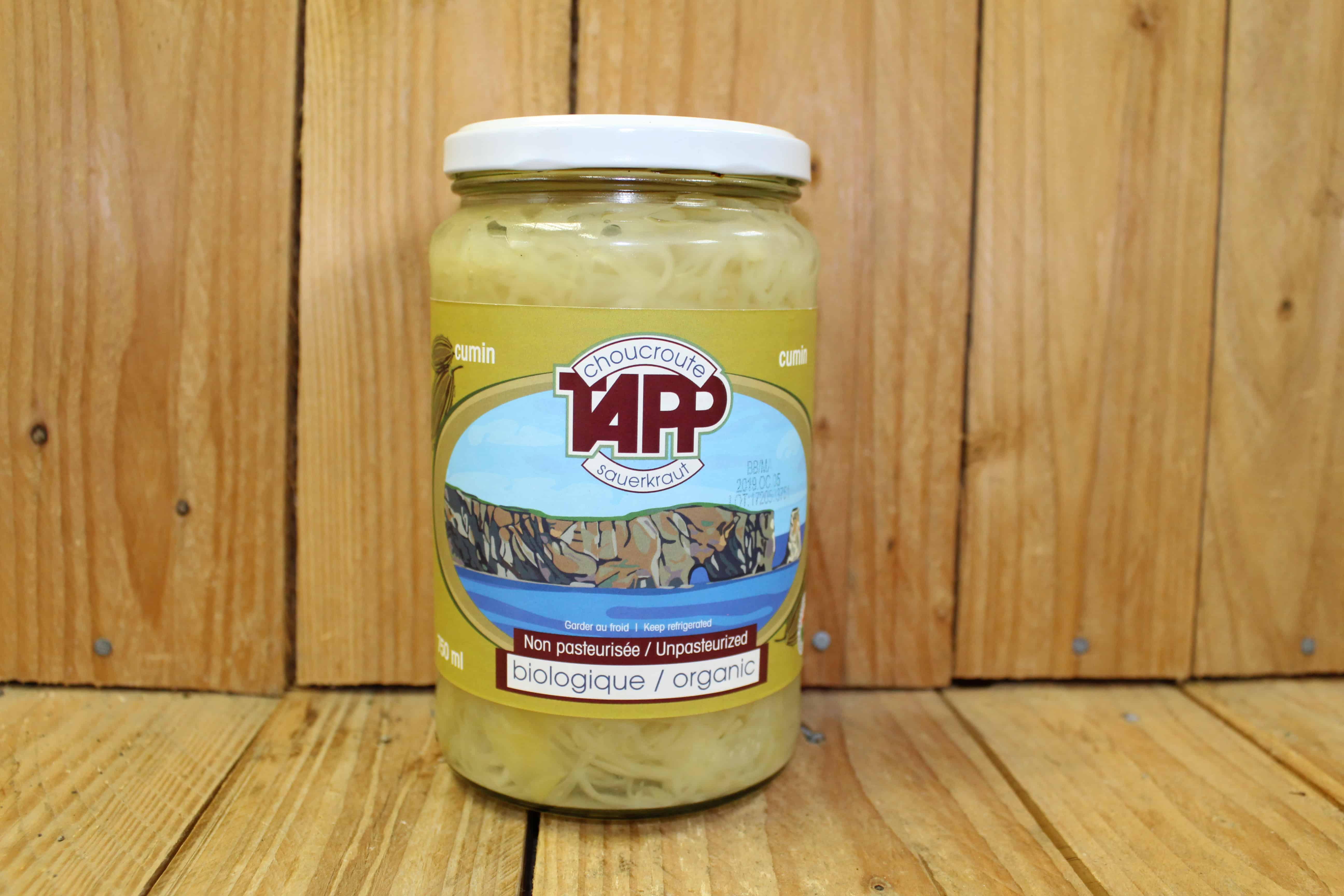 Tapp – Sauerkraut – Cumin (750ml Jar)
