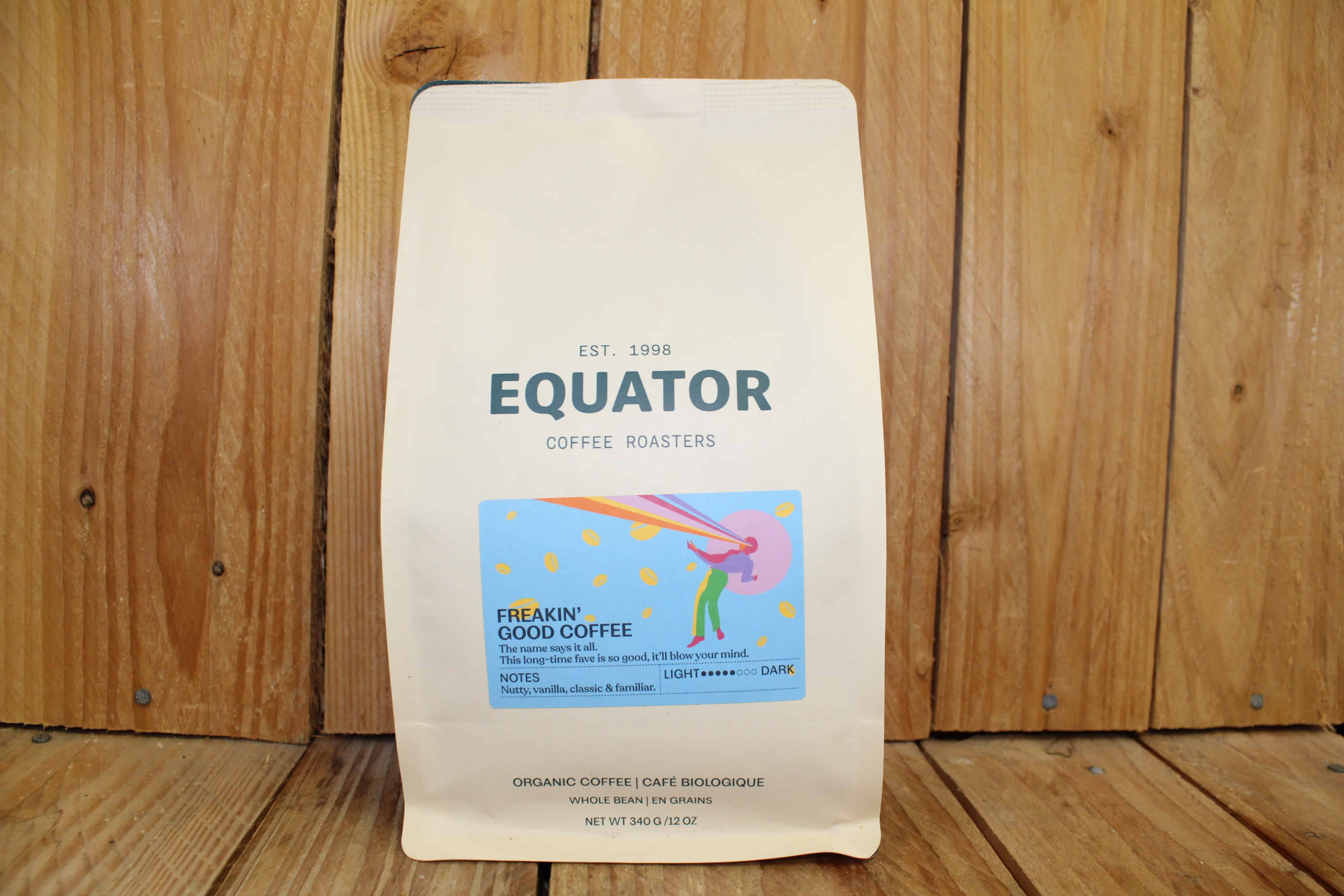 Equator – Organic Coffee – Freakin' Good Blend MEDIUM (340g Bag, whole beans)