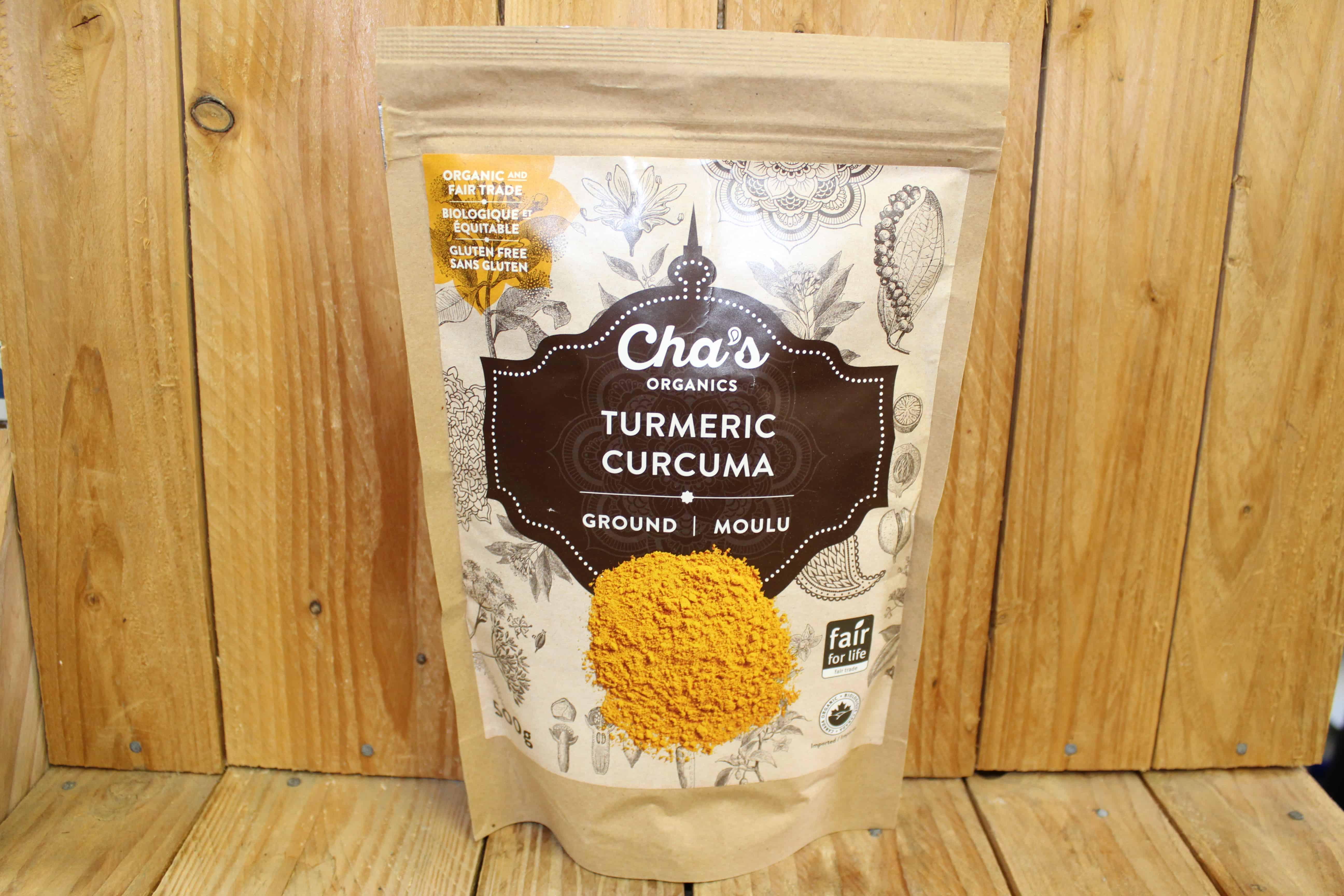 Cha's – Organic Turmeric – Ground (500g Bag)