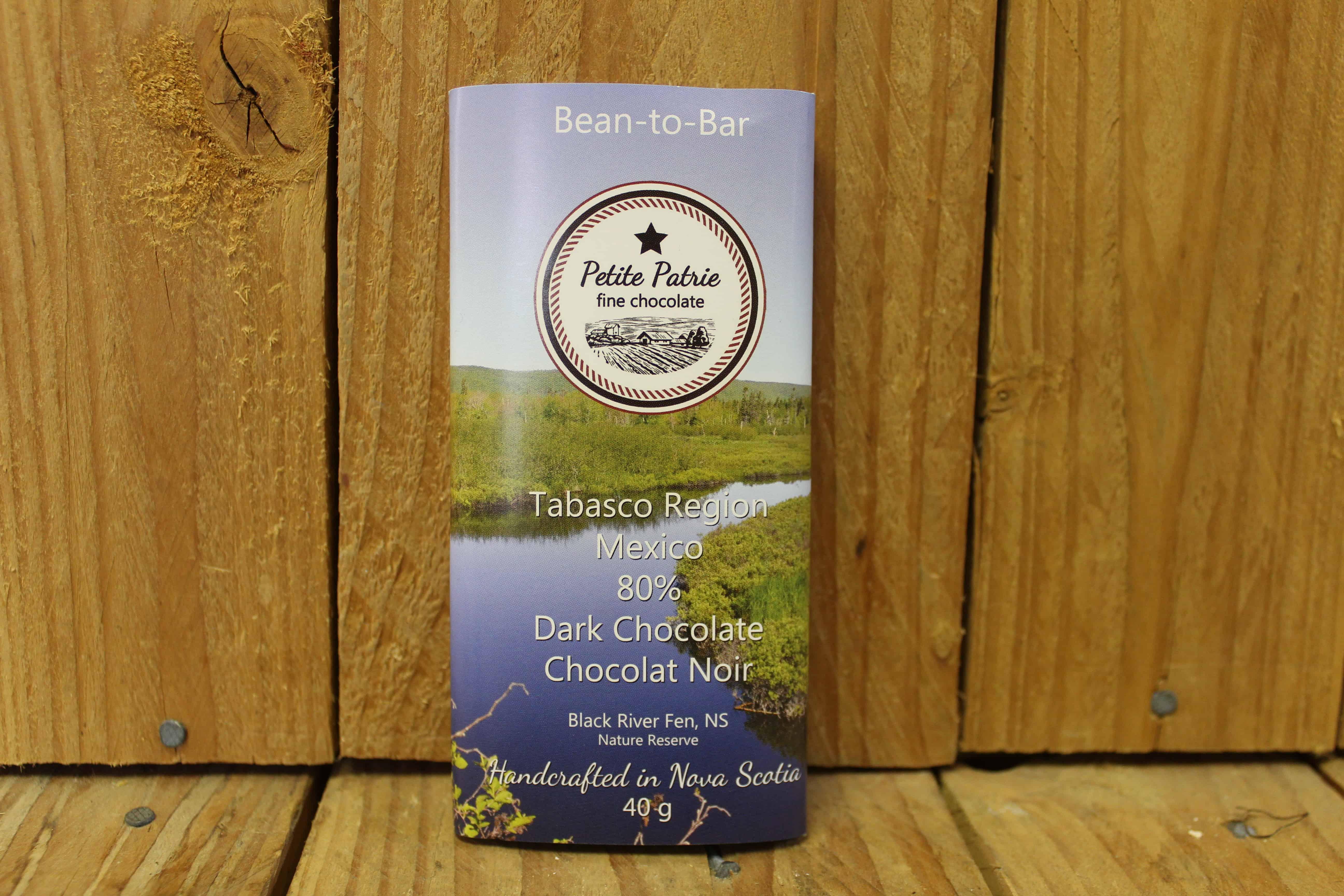 Petit Patrie – Chocolate – Tabasco Region Mexico 80% Dark (40g)