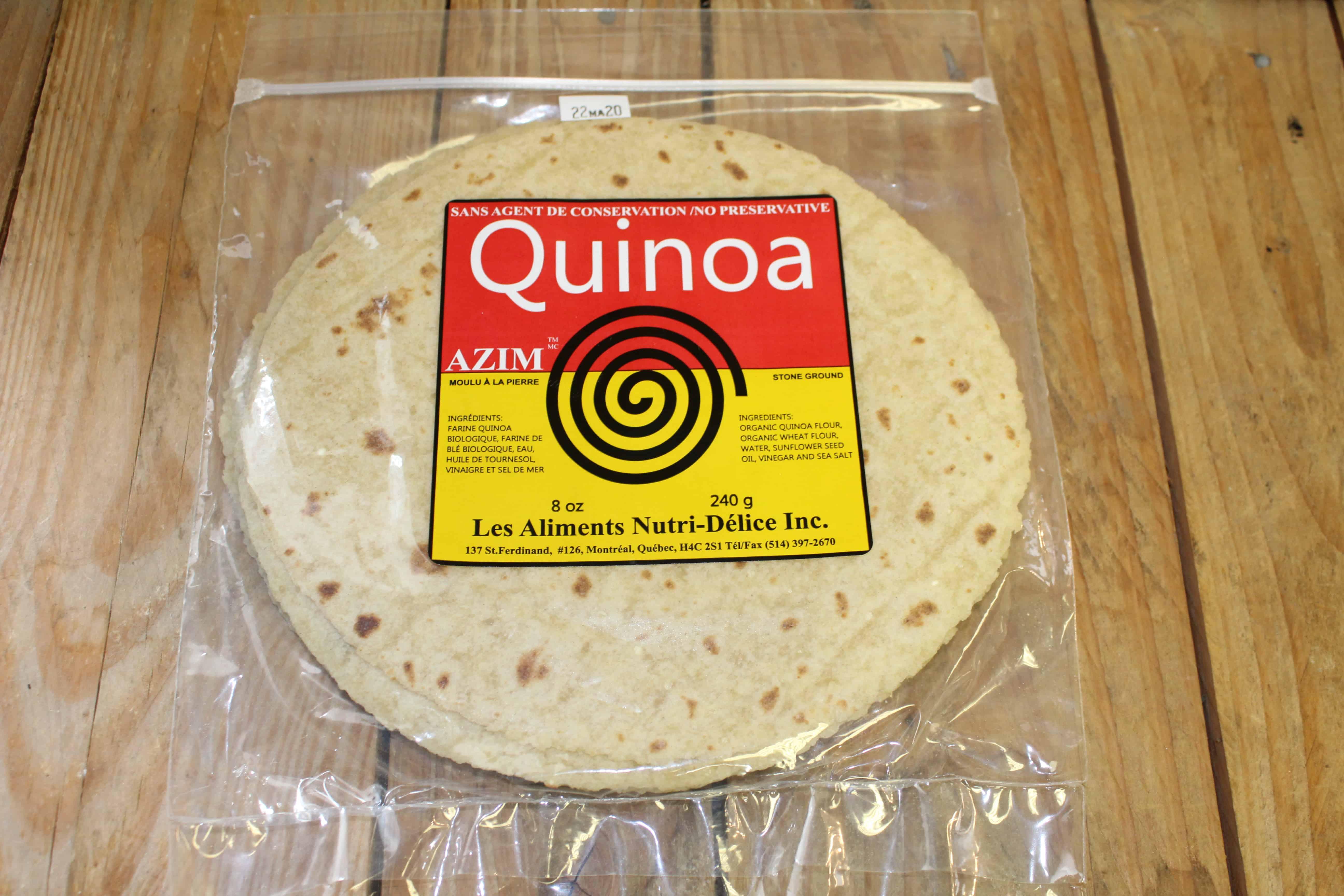 Azim – Flat Bread Quinoa *Not Organic* (Pkg 5/240g)