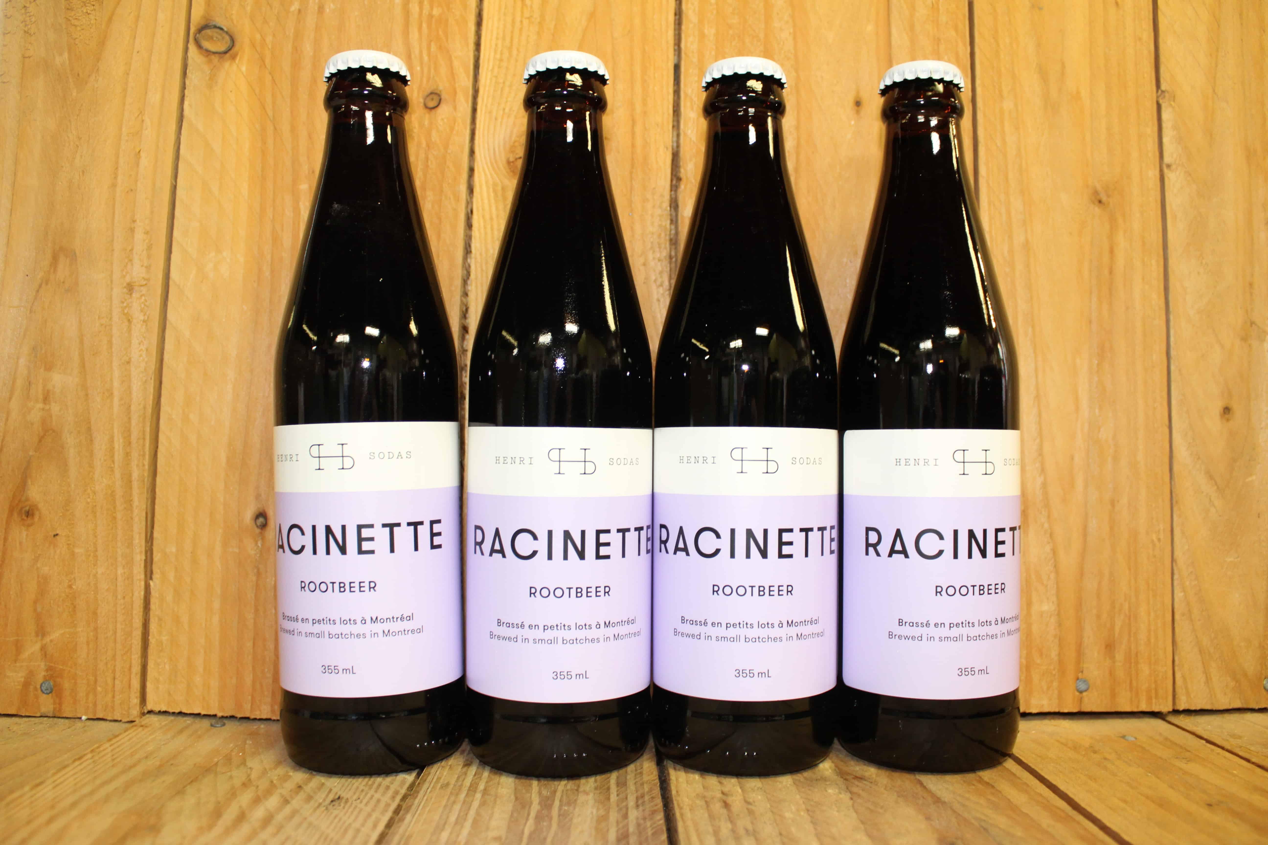 Henri Sodas – Root Beer QUEBEC (4 Bottles x 355ml)