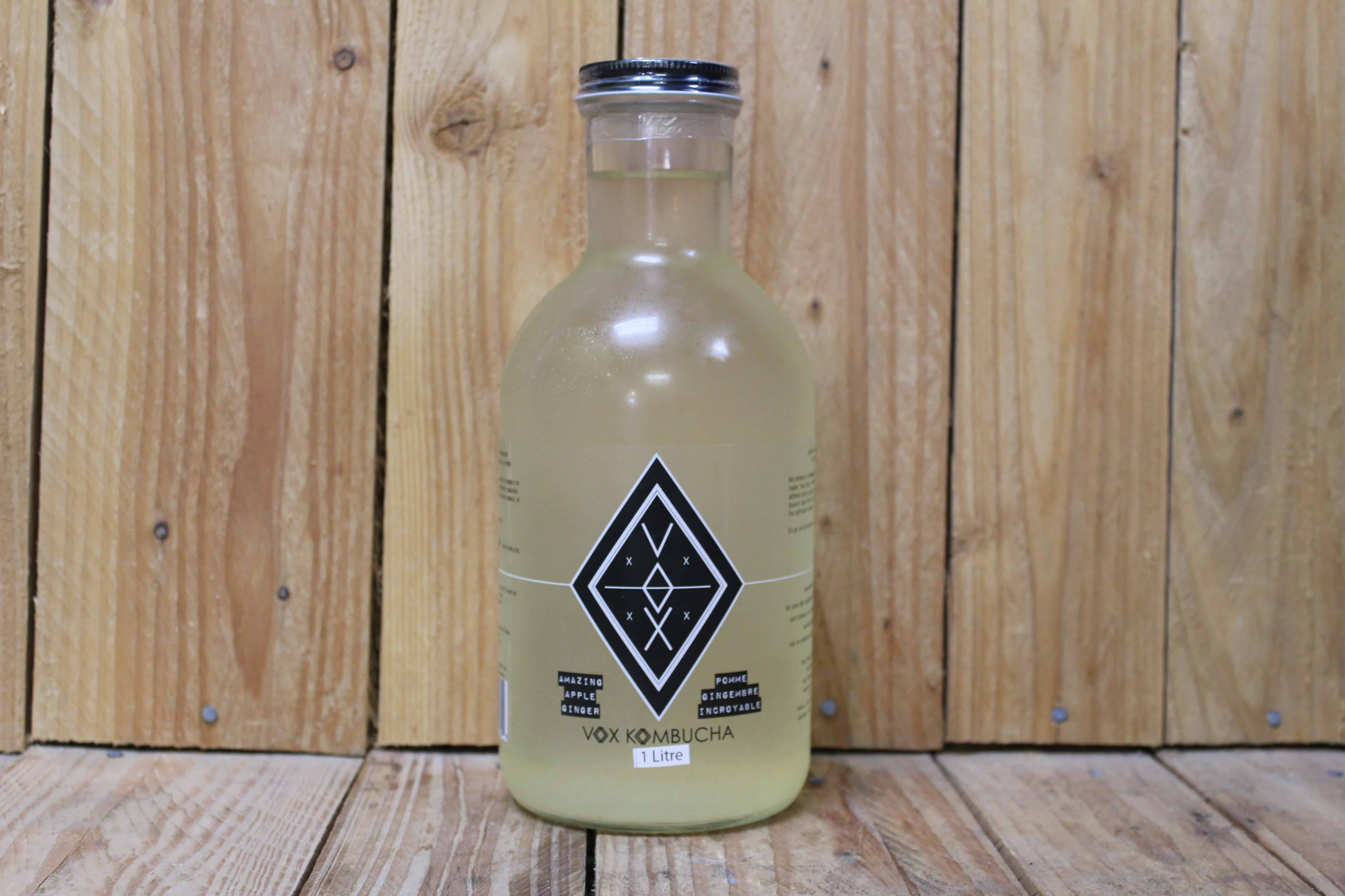 Vox – Kombucha – Amazing Apple-Ginger LOCAL (1L Glass Bottle)