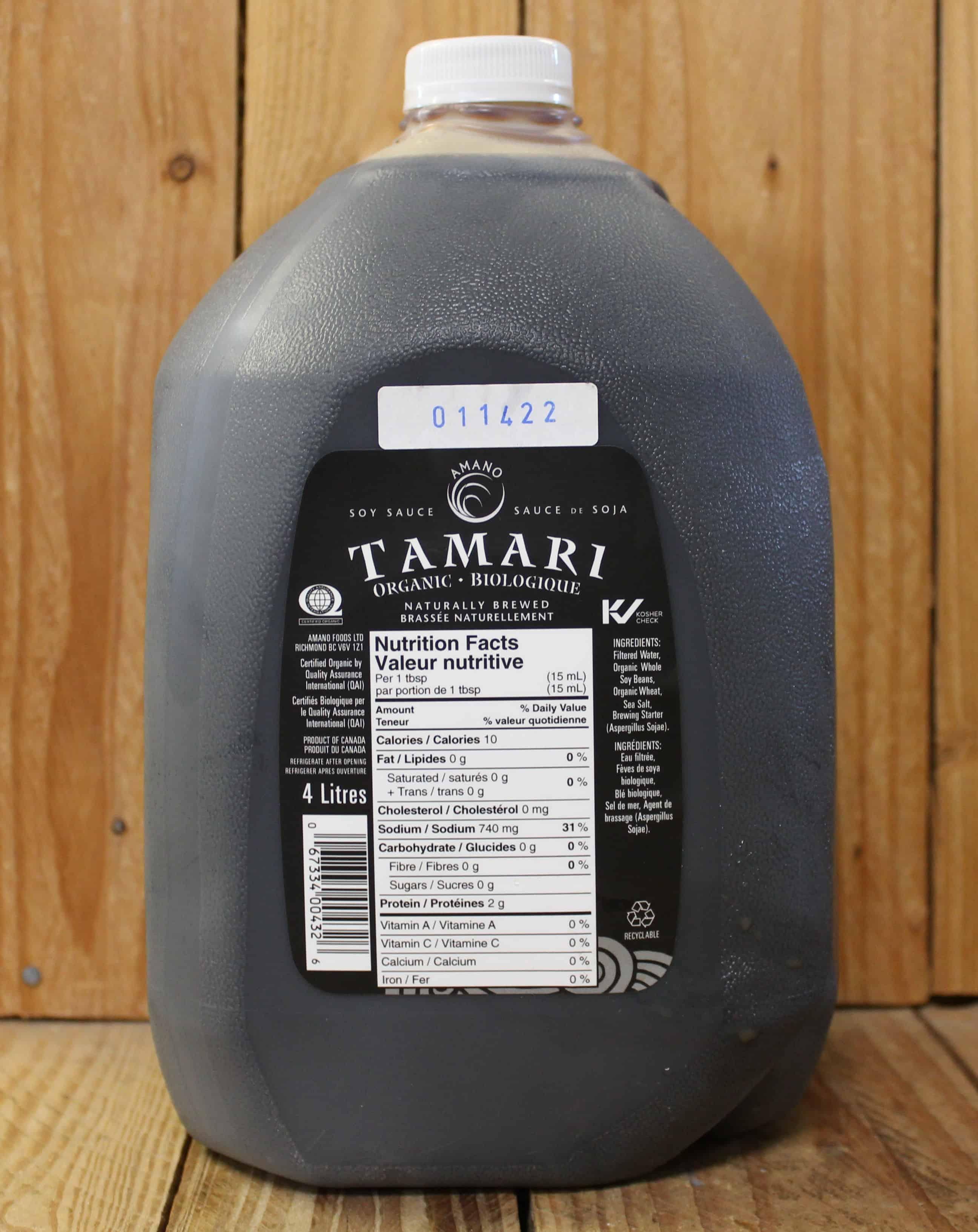Amano – Organic Tamari Sauce (4L Jug)