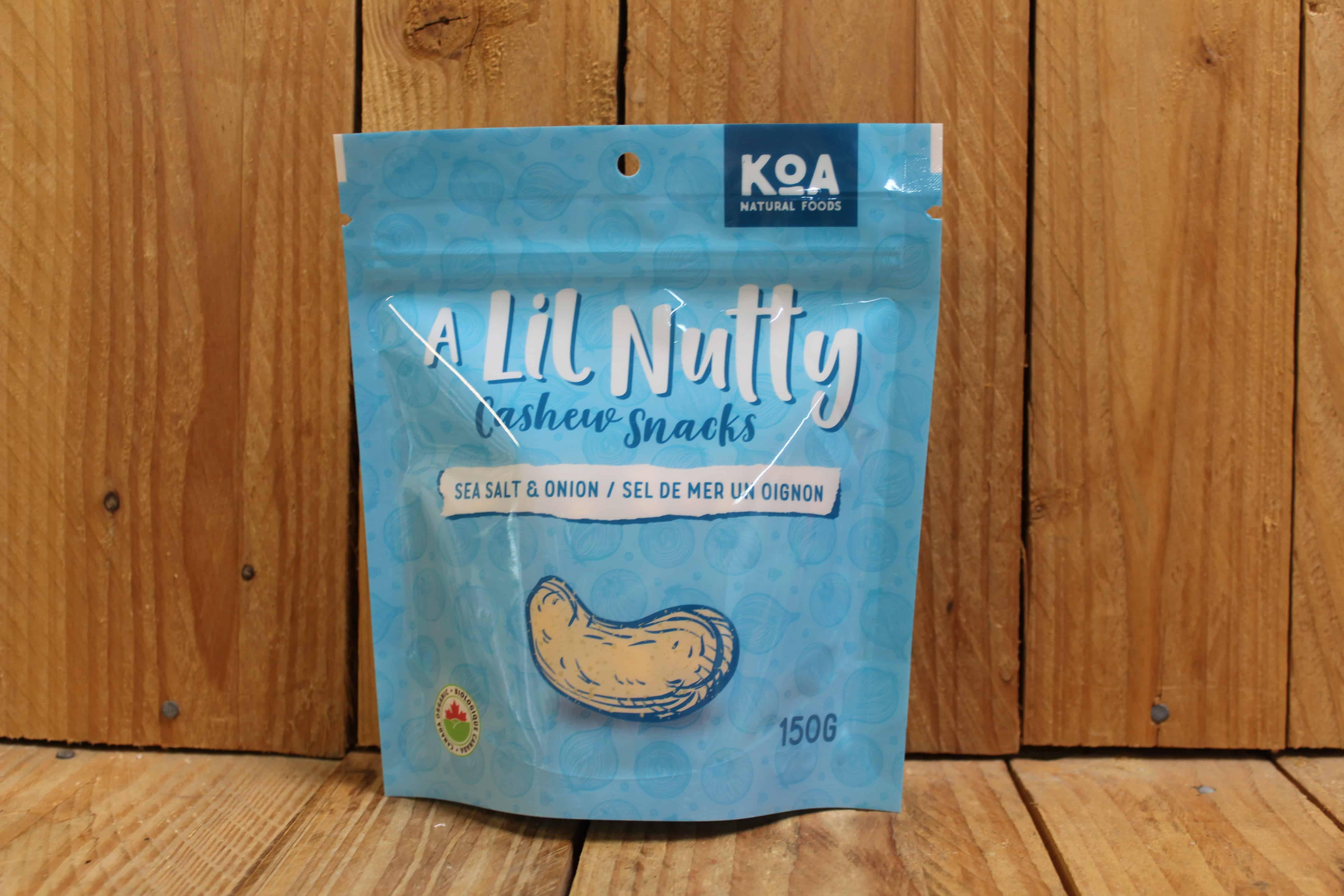 KOA – Cashew Snacks – Sea Salt & Onion (150g)