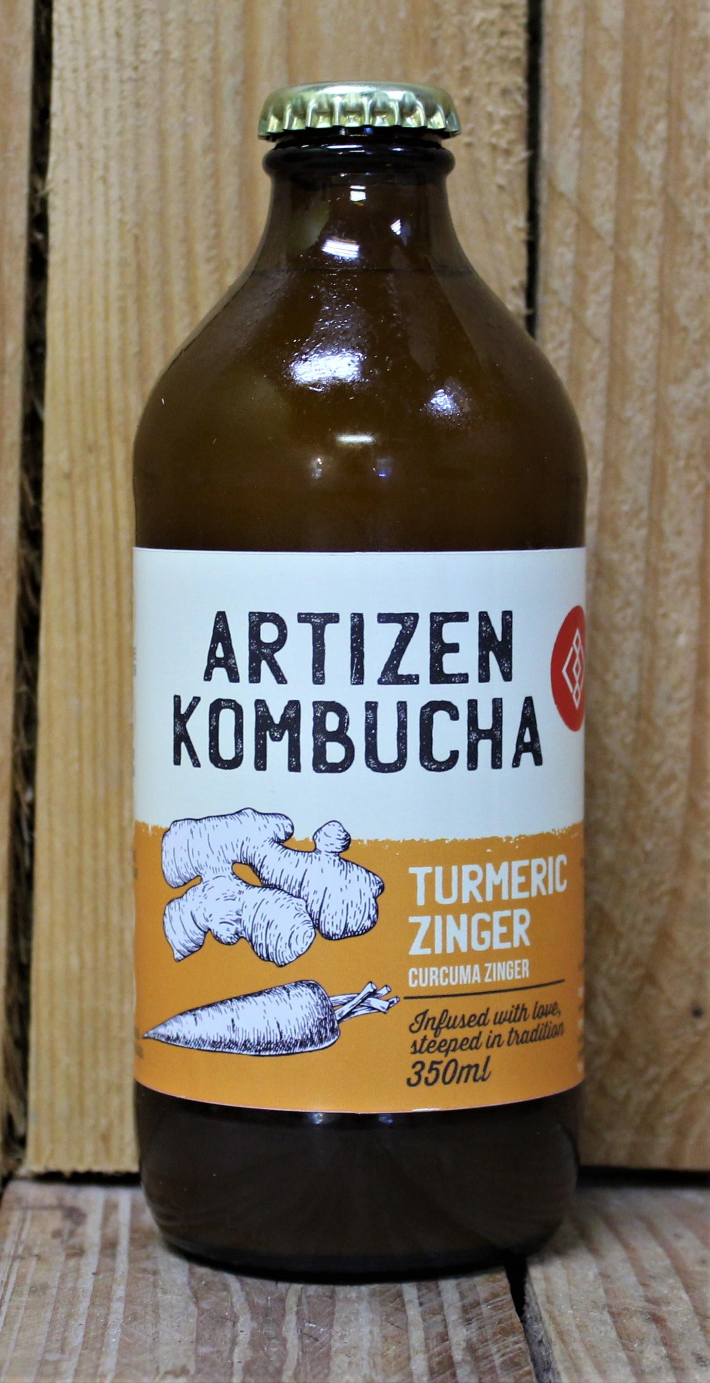 Artizen Kombucha – Turmeric Zinger (4 Bottles x 350ml)