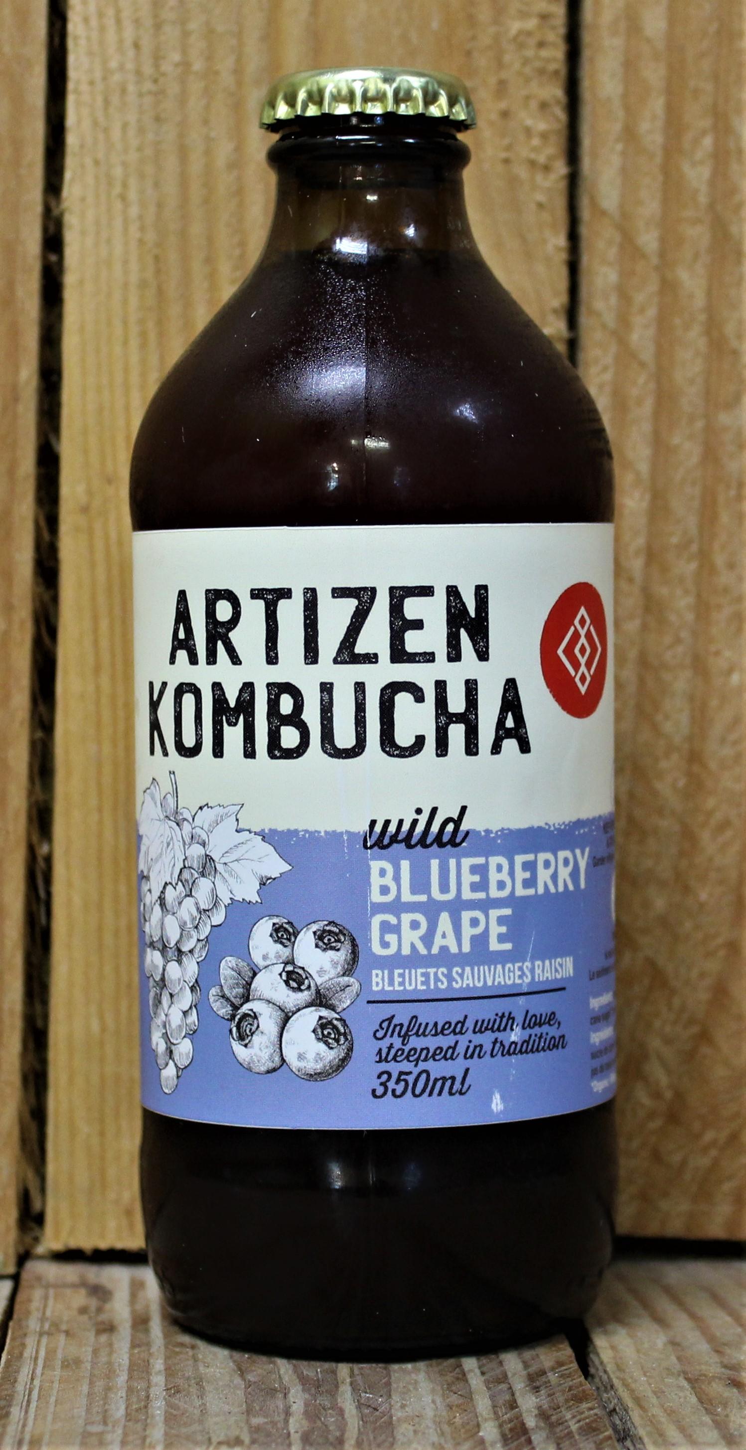 Artizen Kombucha – Wild Blueberry Grape (4 Bottles x 350ml)