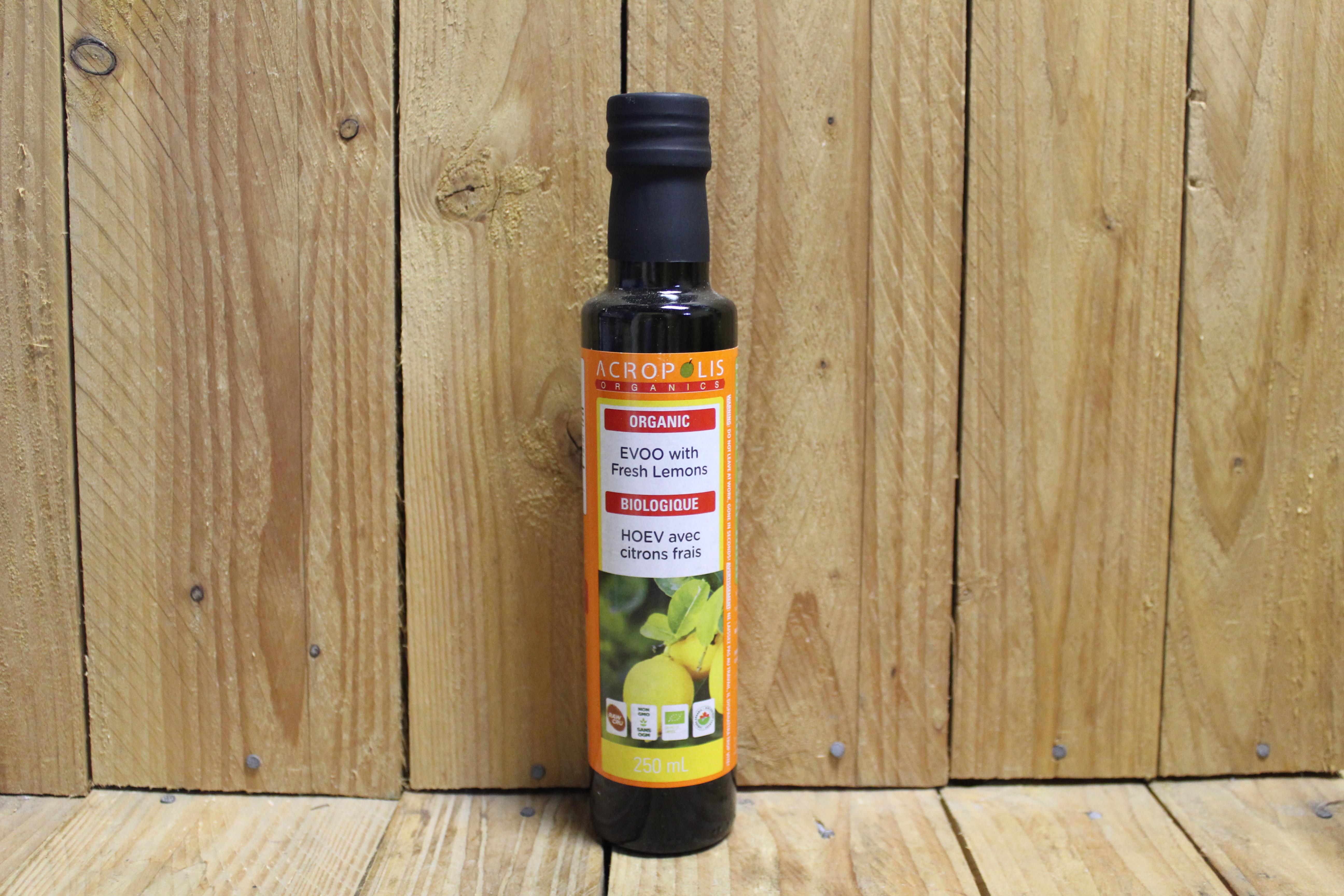 Acropolis – Organic EVOO with Fresh Lemons (250ml)