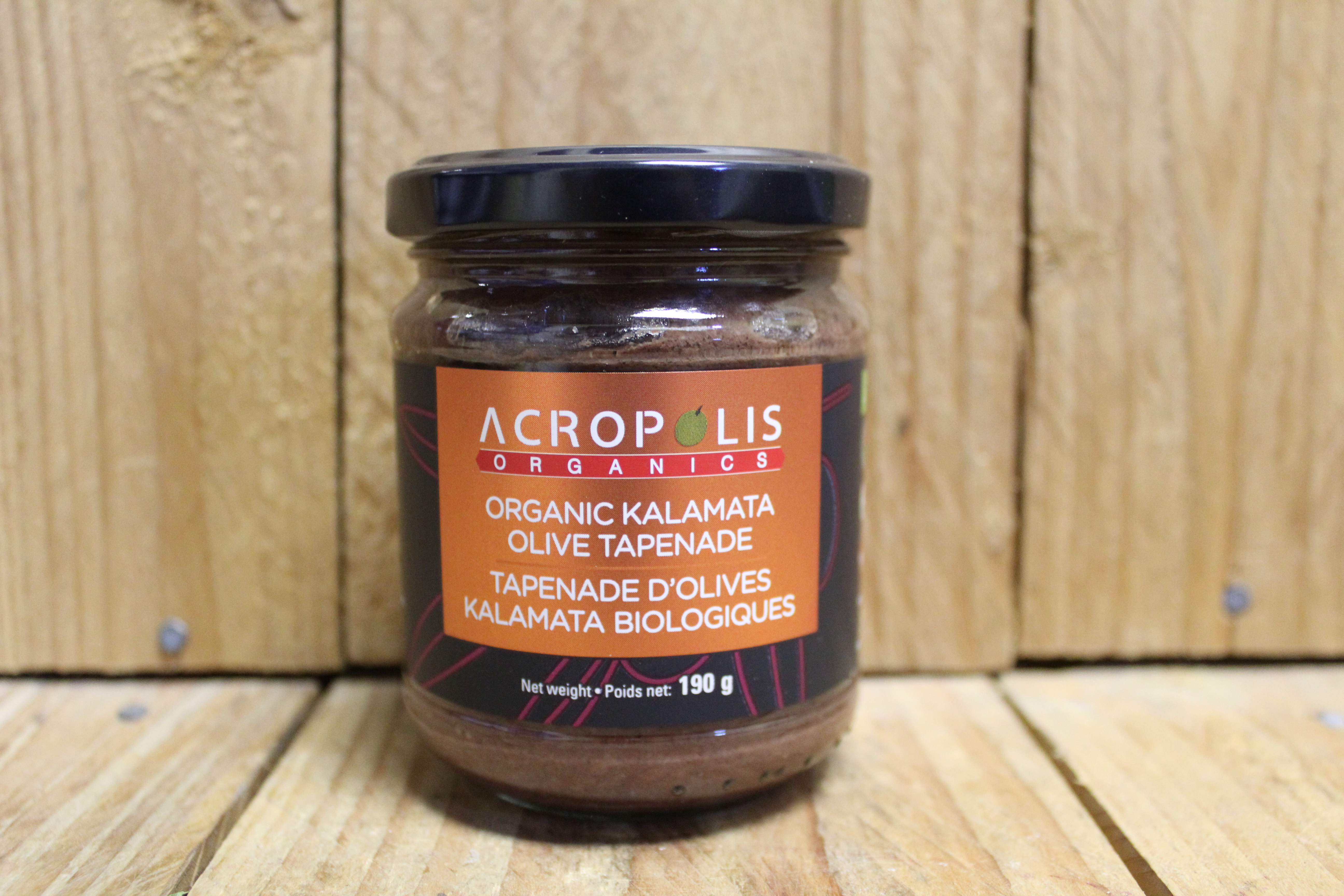 Acropolis – Organic Kalamata Olive Tapenade (190ml)