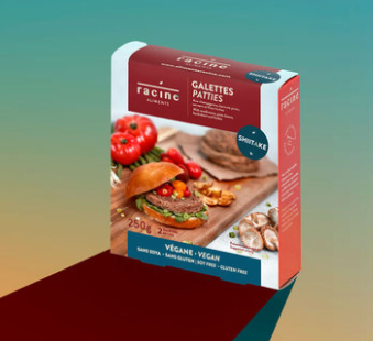 Racine – Vegan Burger – Mushroom & Buckwheat GF, Soy-Free, VEGAN (2-Pack/250g)