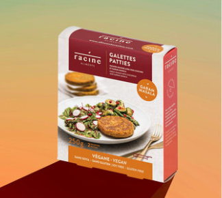 Racine – Vegan Burger – Garam Masala GF, Soy-Free, VEGAN (2-Pack/250g)