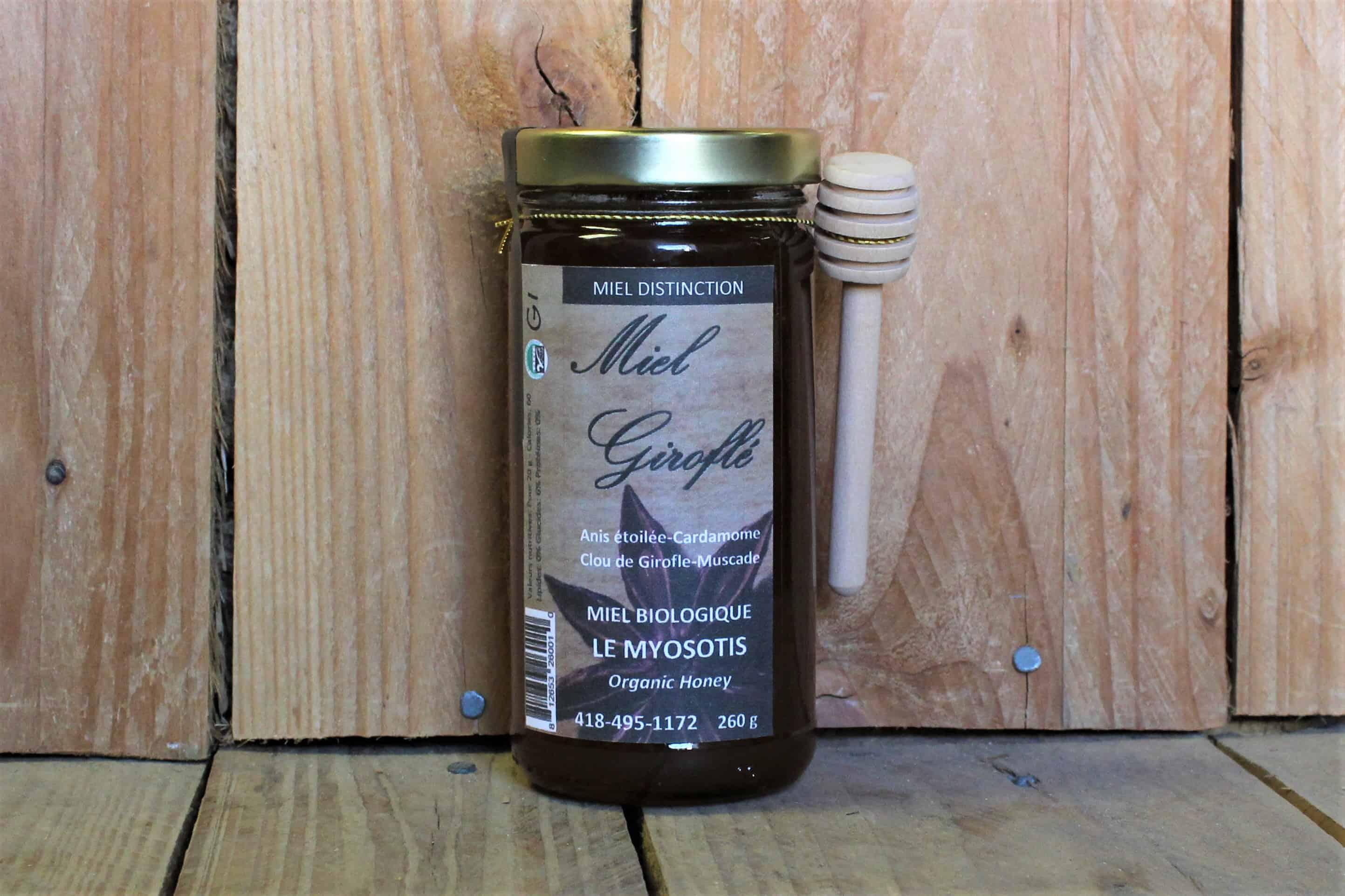 Le Myosotis – Organic Honey – Girofle QUEBEC (260g)