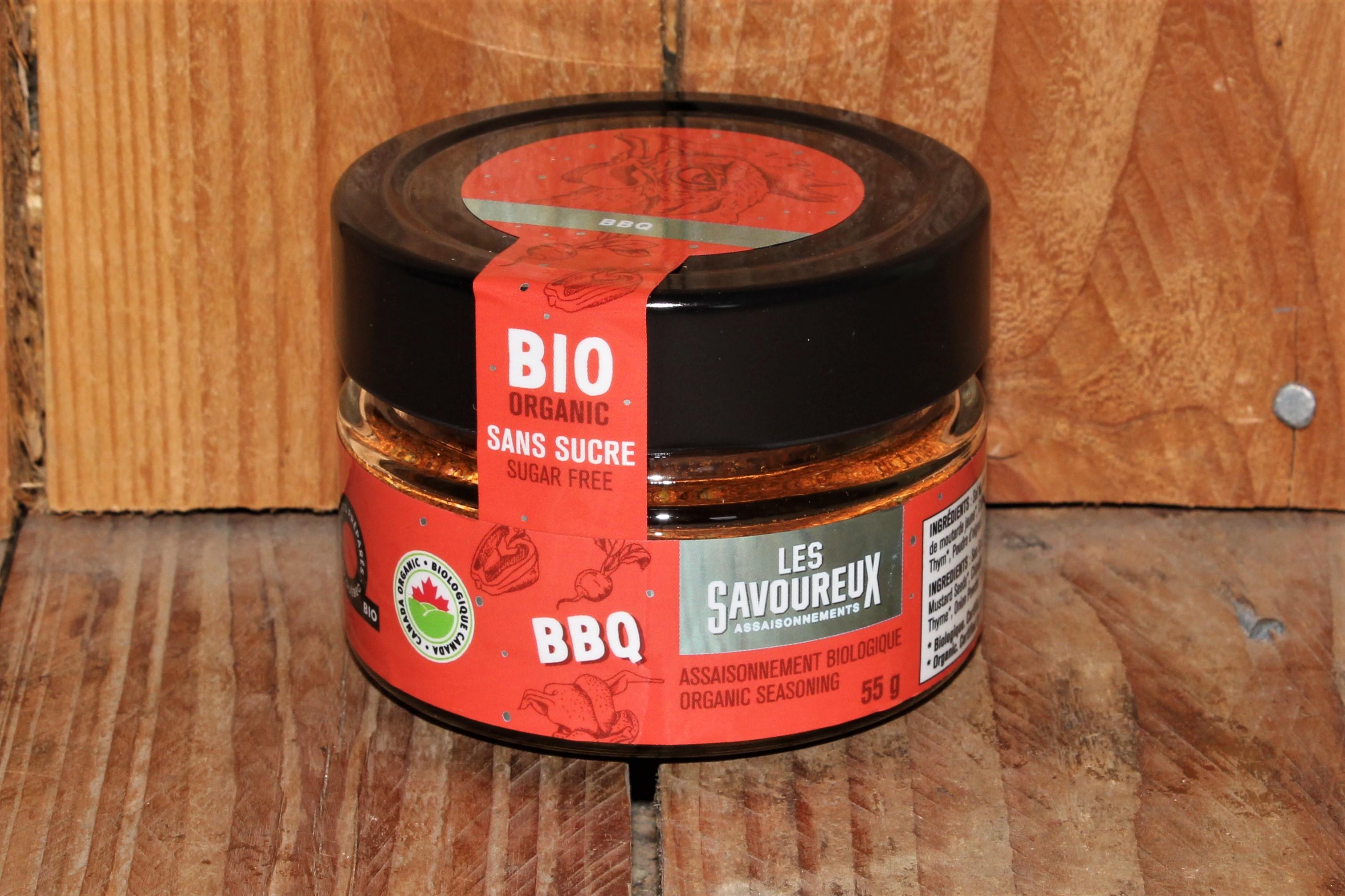 Les Savoureux – Oragnic seasoning, BBQ *sugar-free* (55g)