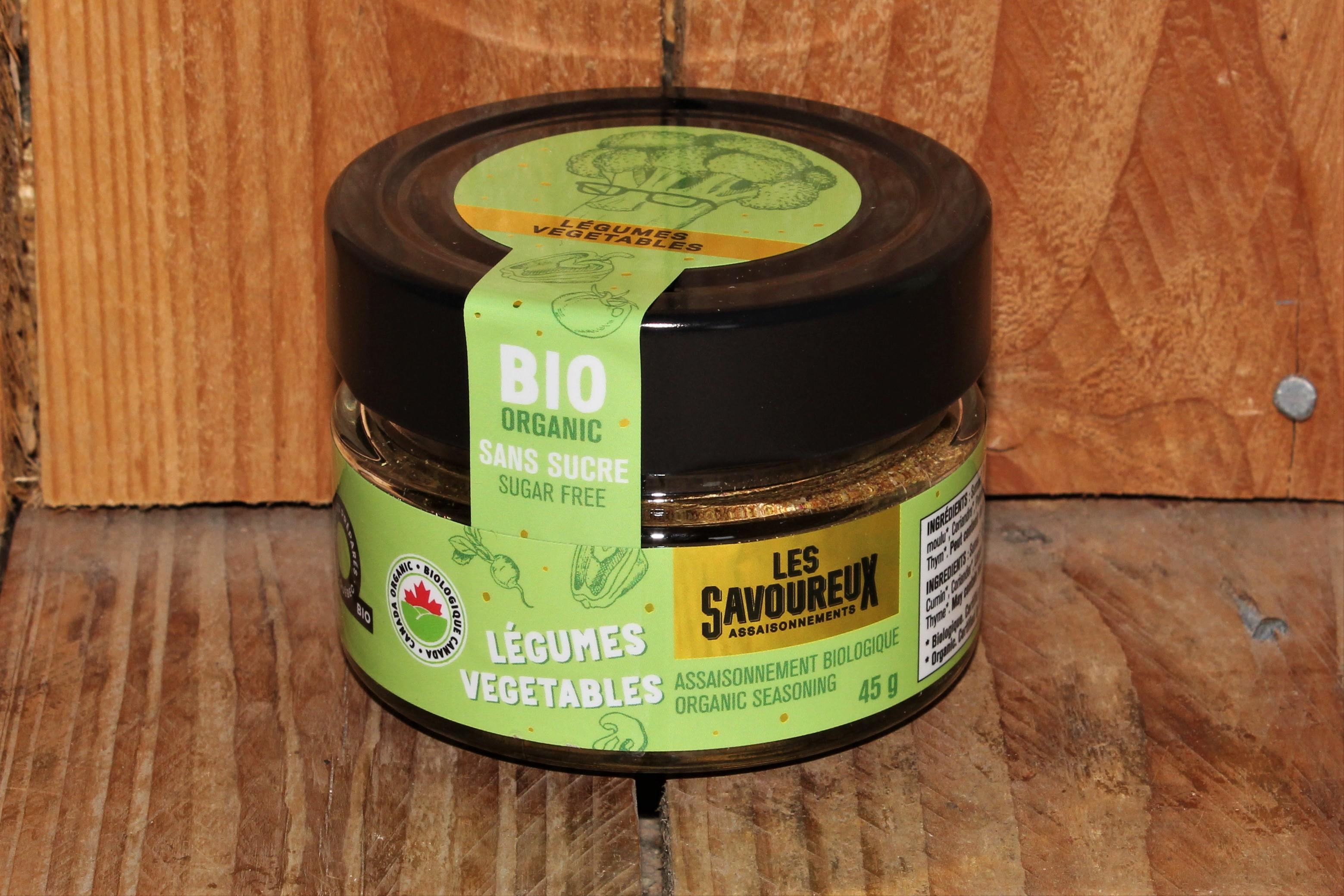 Les Savoureux – Oragnic seasoning, Vegetables *sugar-free* (45g)