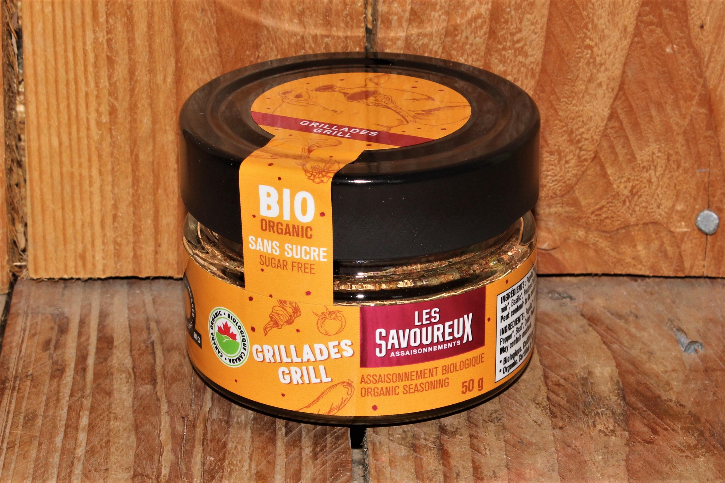 Les Savoureux – Oragnic seasoning, Grill *sugar-free* (50g)