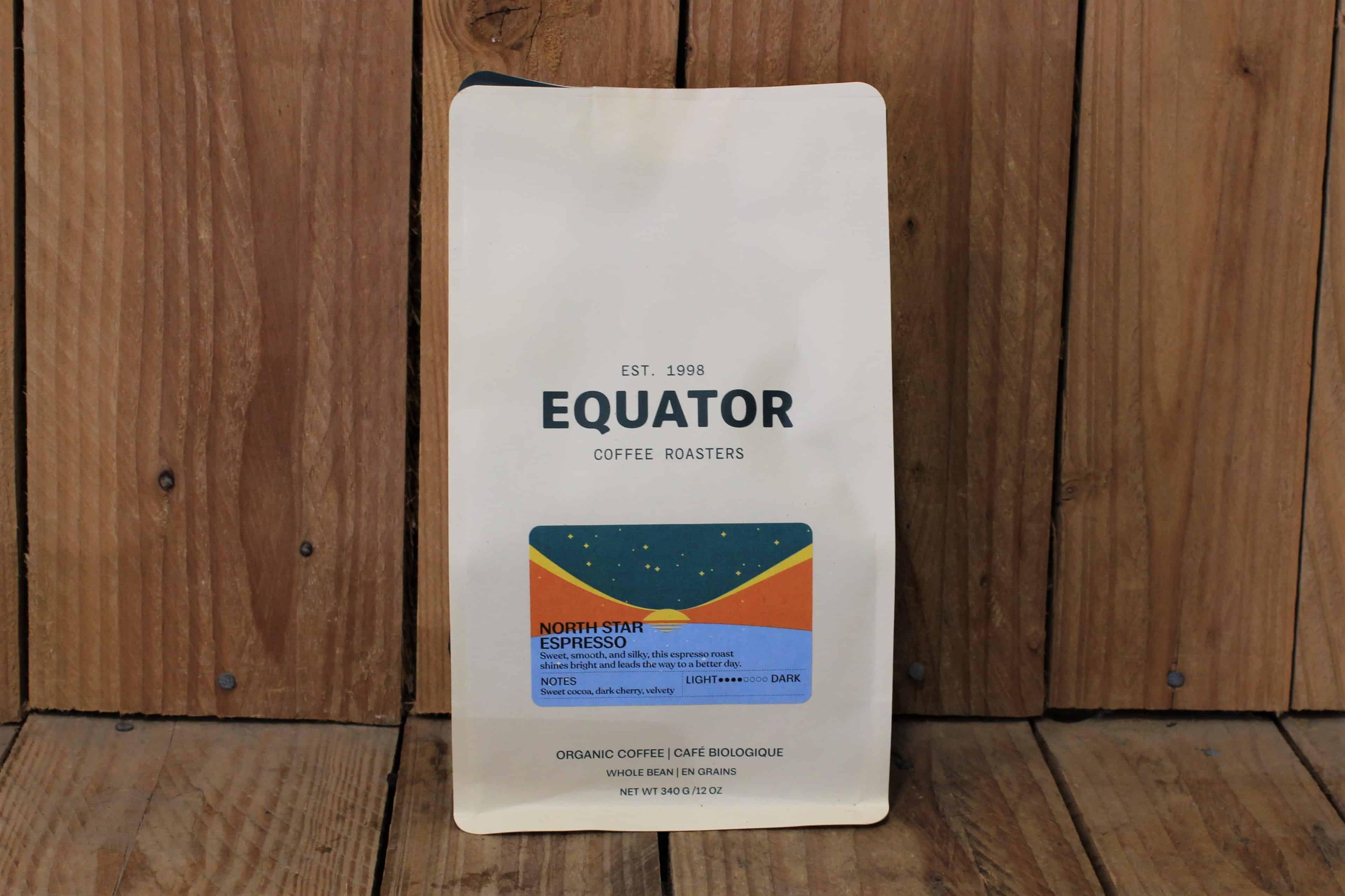 Equator – Organic Coffee – North Star Espresso (340g Bag, whole beans)