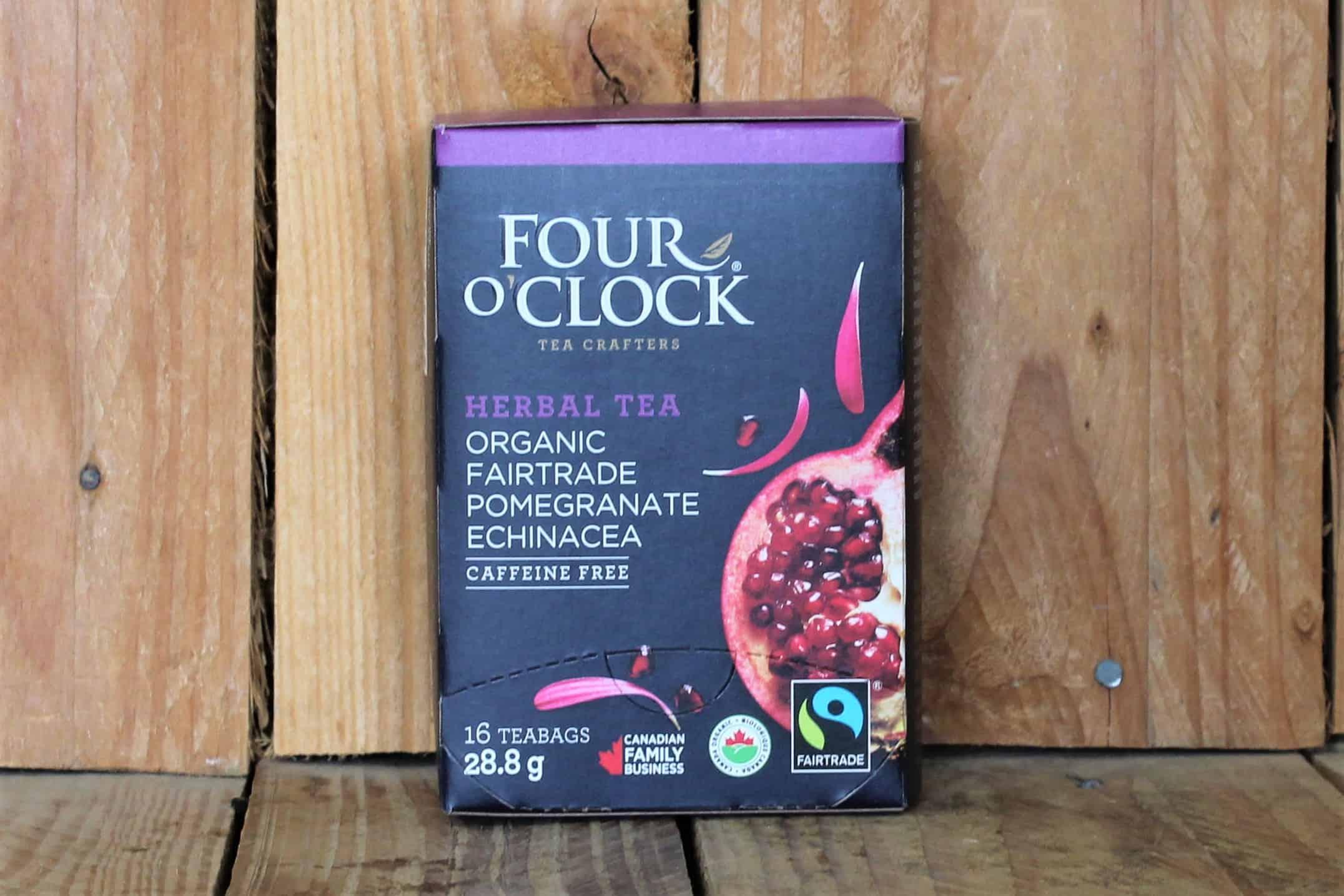Four O'Clock – Tea – Pomegranate Echinaceae Herbal Tea FAIR TRADE (16 Bags/24g)